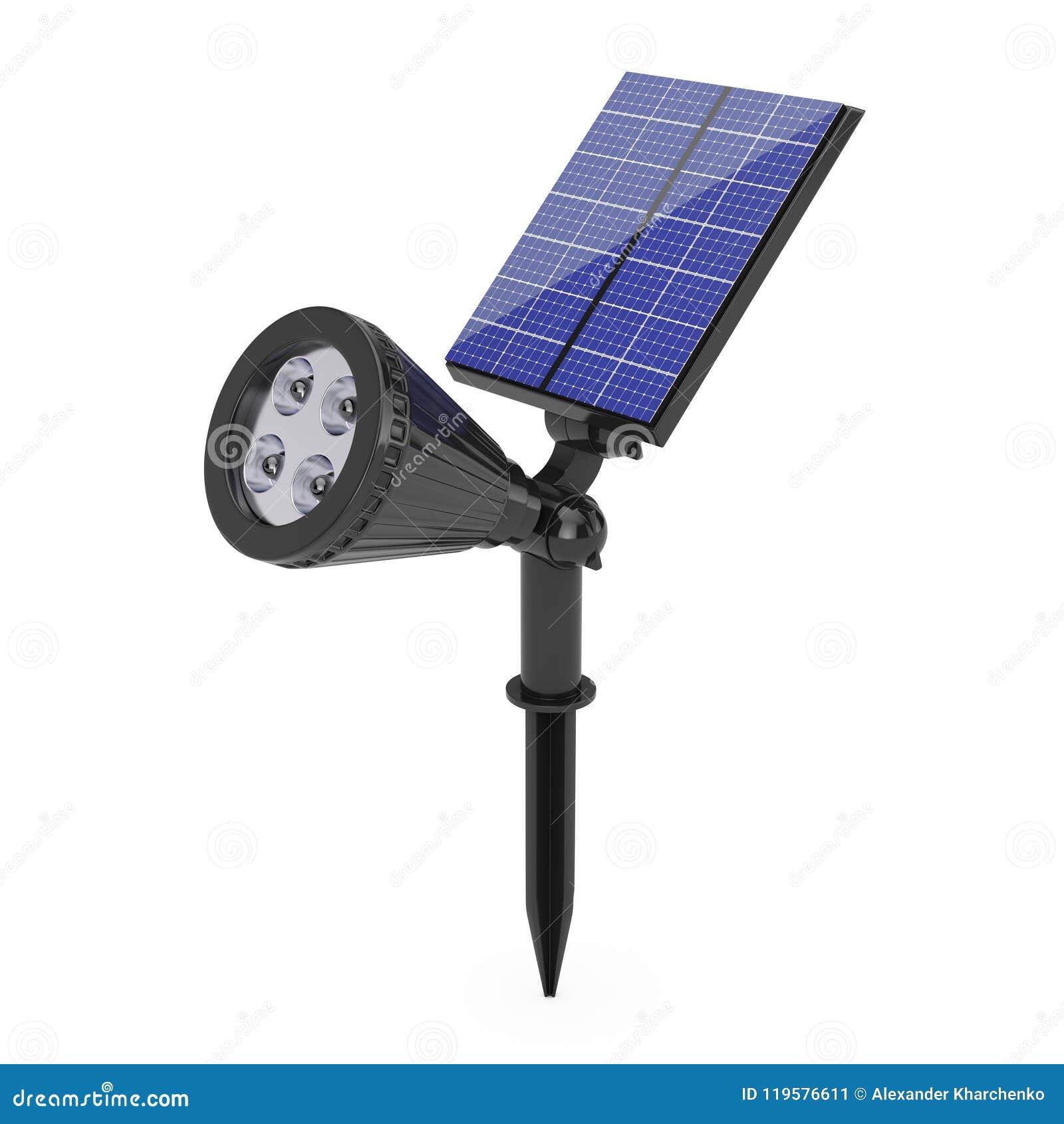 Projecteur Extérieur Du Jardin LED Avec Le Panneau Solaire ...