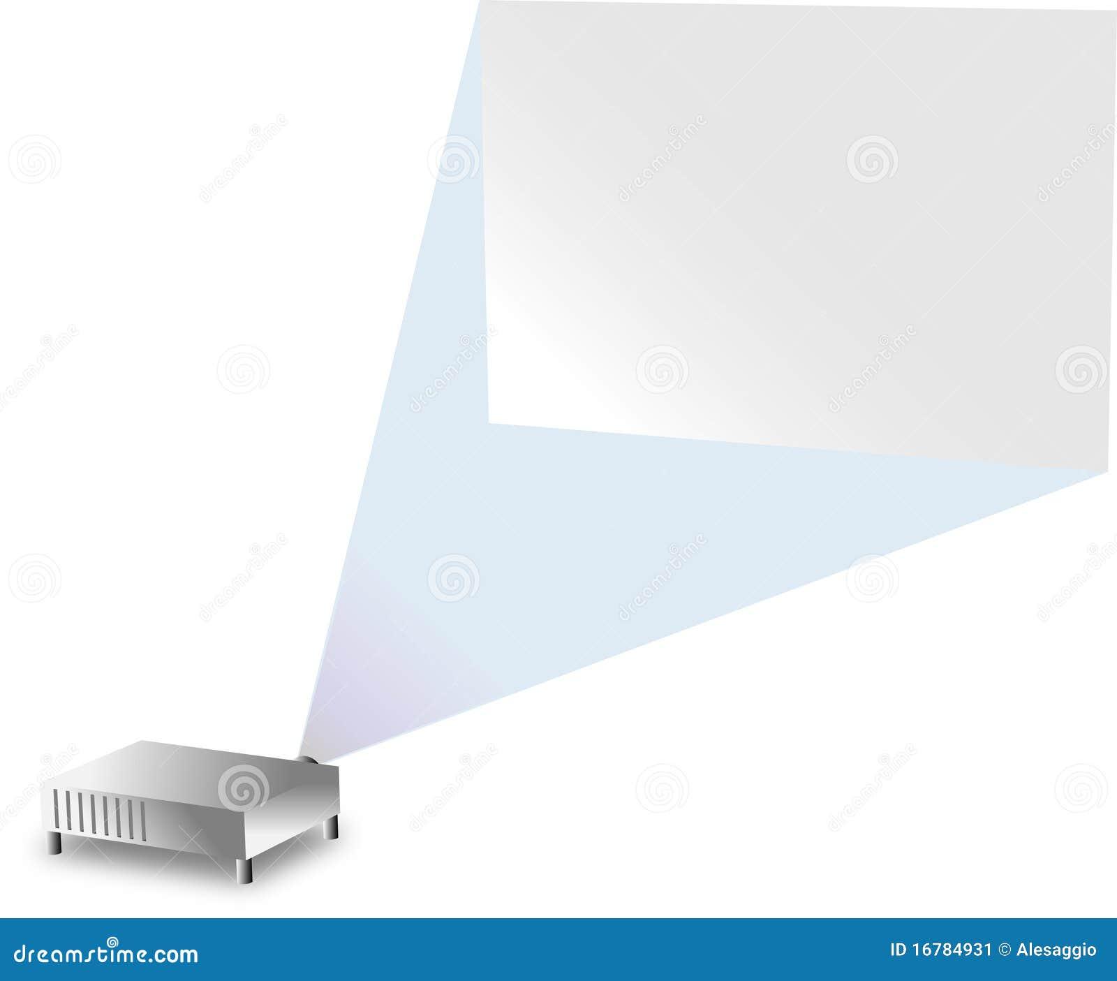 Projectie Op De Muur Stock Afbeelding - Afbeelding: 16784931