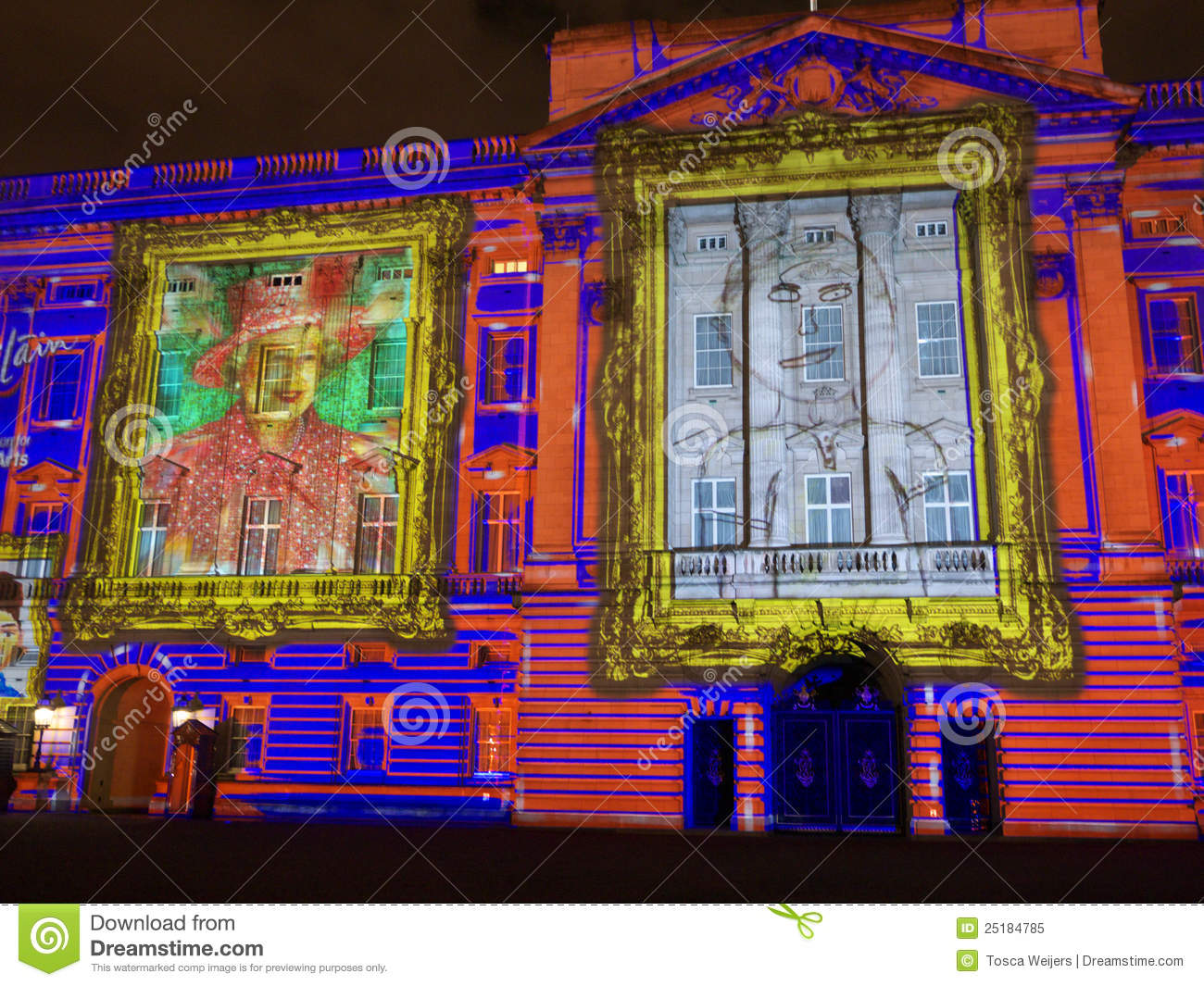 Projection de Buckingham Palace des verticales