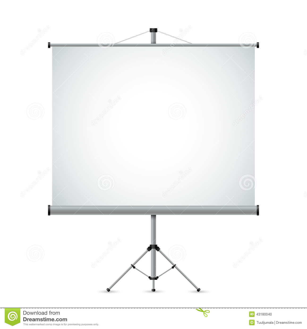 Projection Screen Stock Vector - Image: 43180040