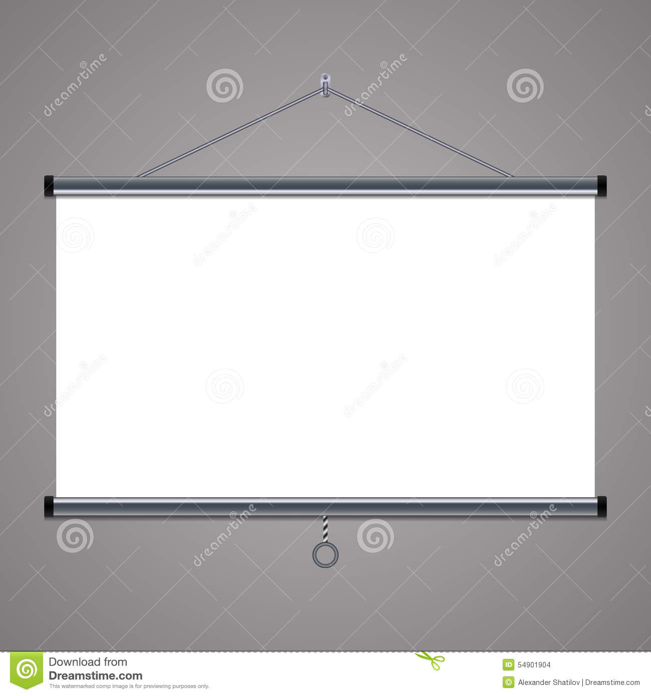 Projection Screen To Showcase Your Projects, 16x9 Aspect Ratio Stock ...