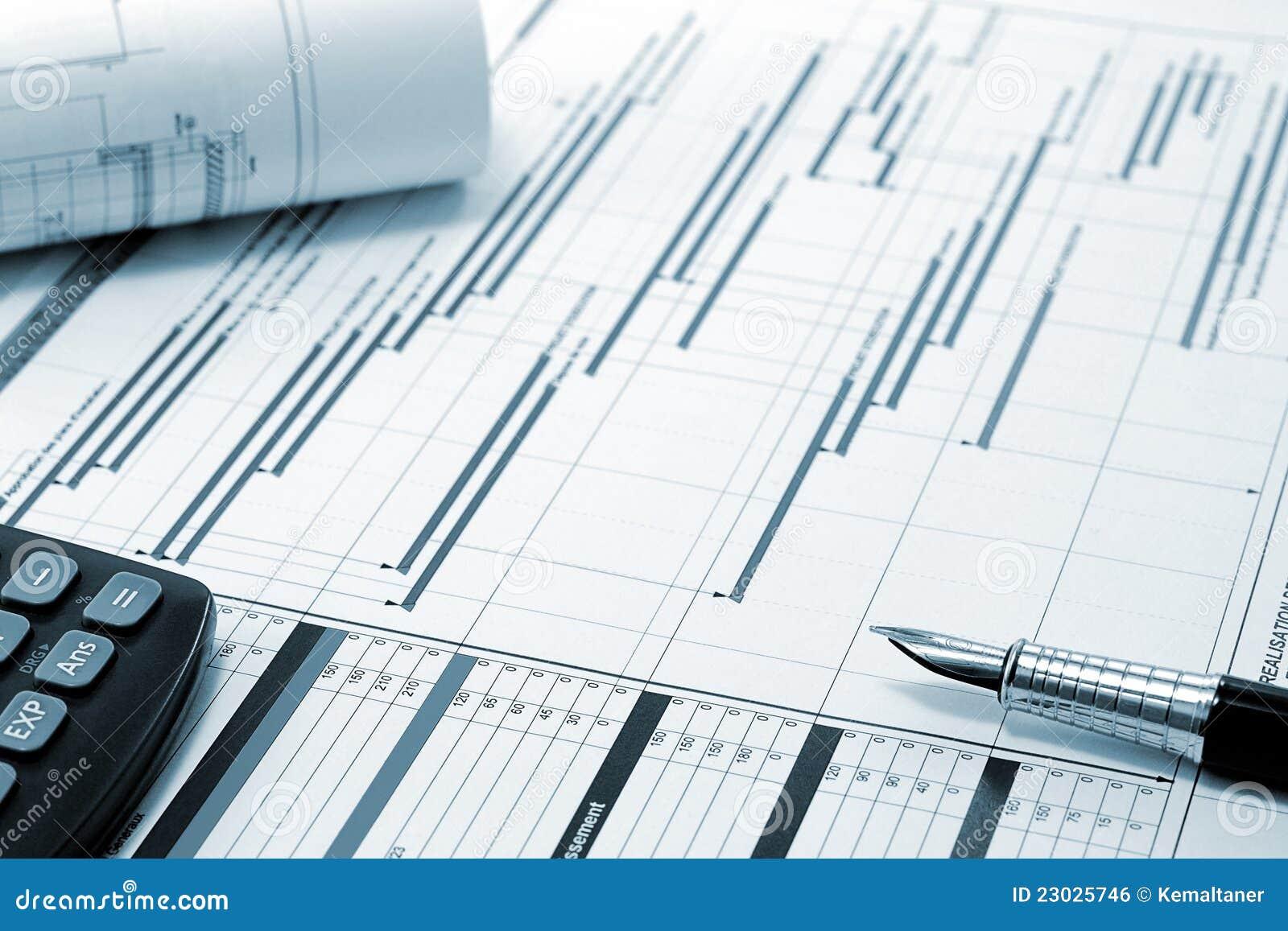 Projectleiding - het project van de Bouw planning