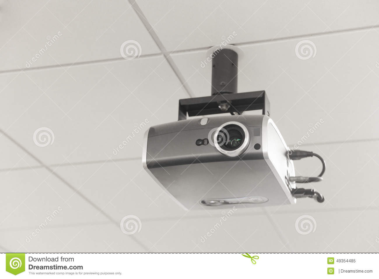 Modern Classroom Projector ~ Projector stock image of path board hang lens