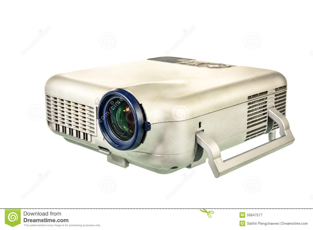 Projector multimedia on white background