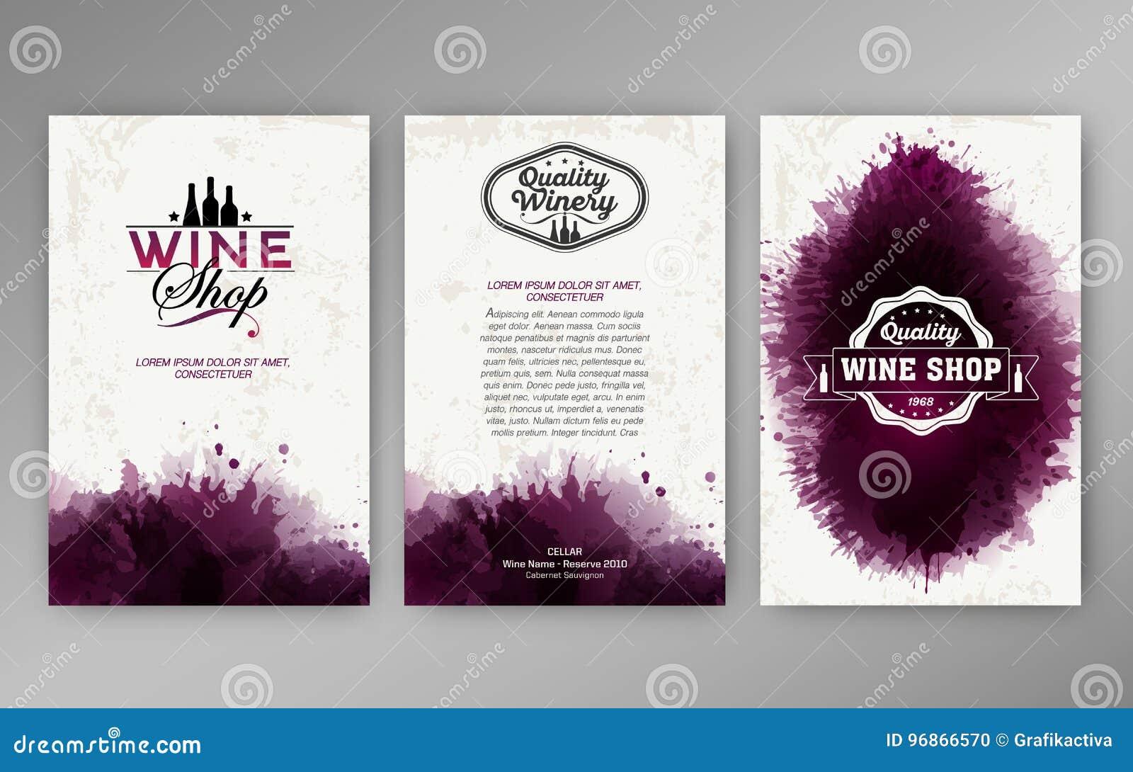 Projektów szablonów tła wina plamy