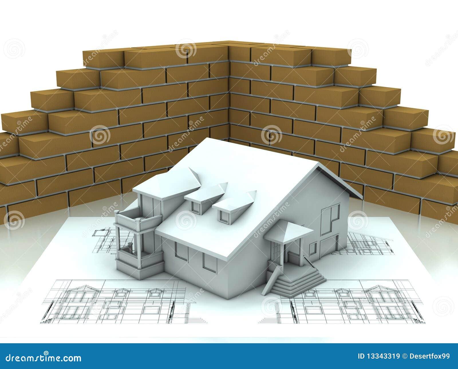 Projekt domowa ściana