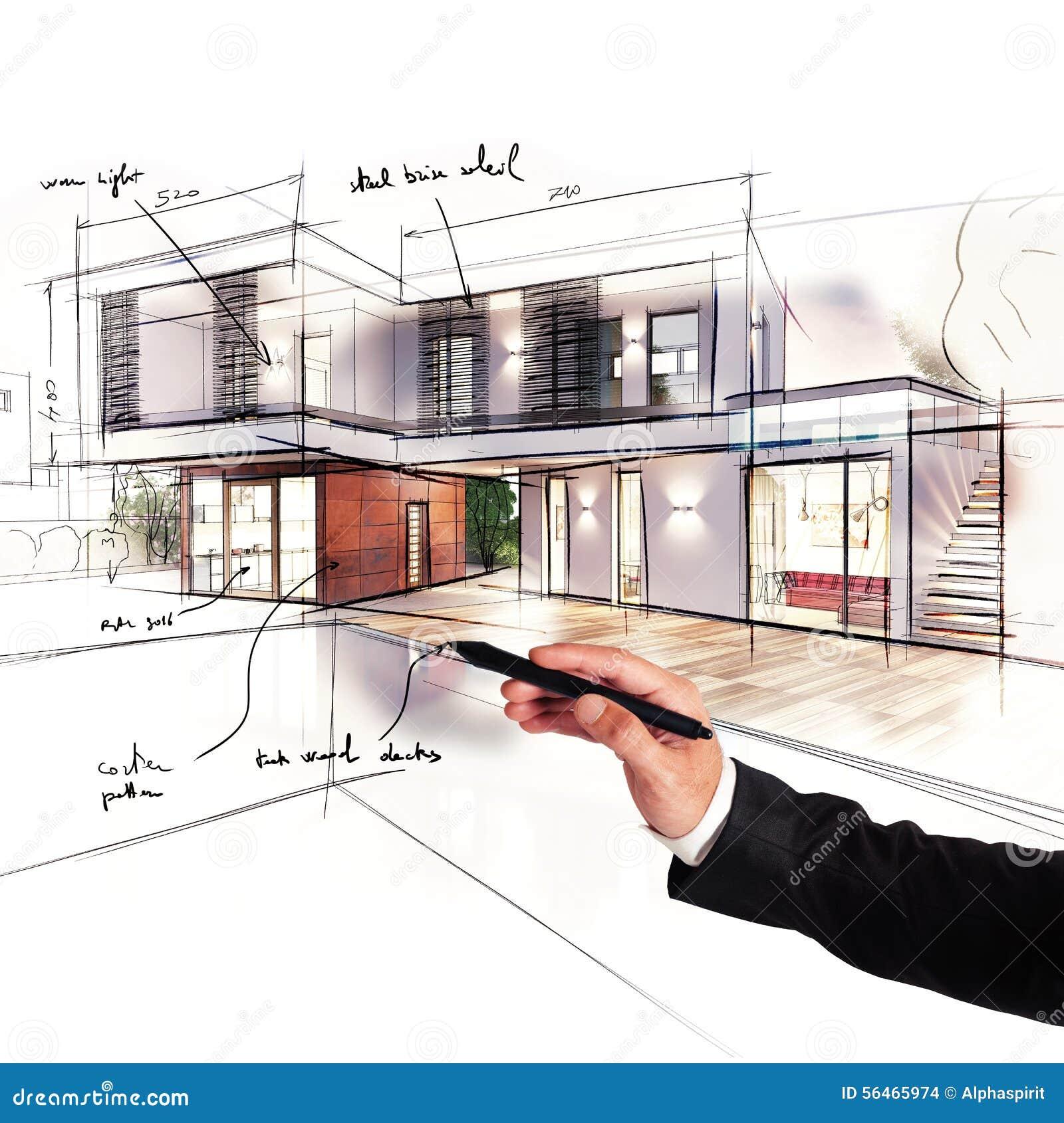 Projekt eines Landhauses