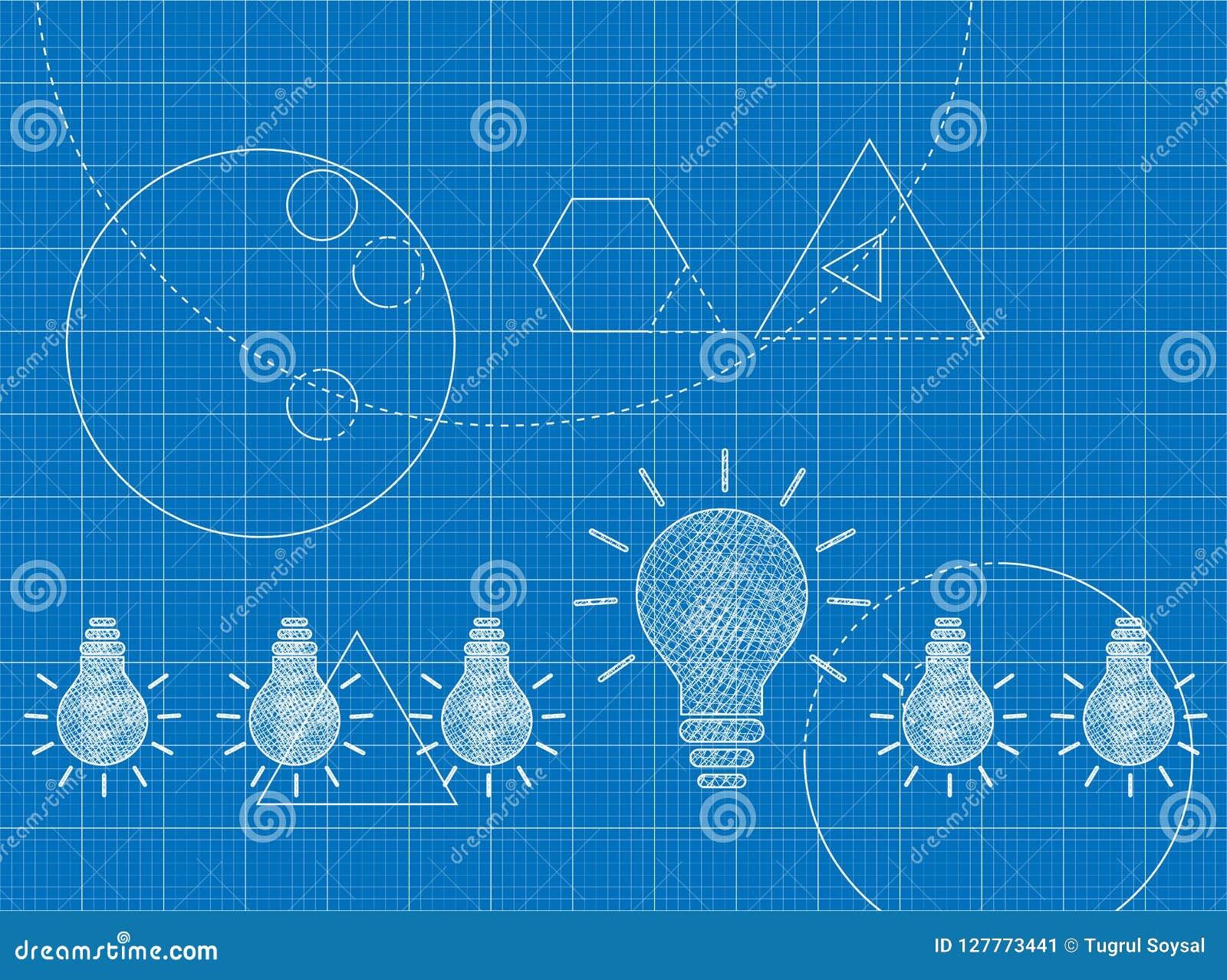 Projekt innowacji pojęcie z żarówkami