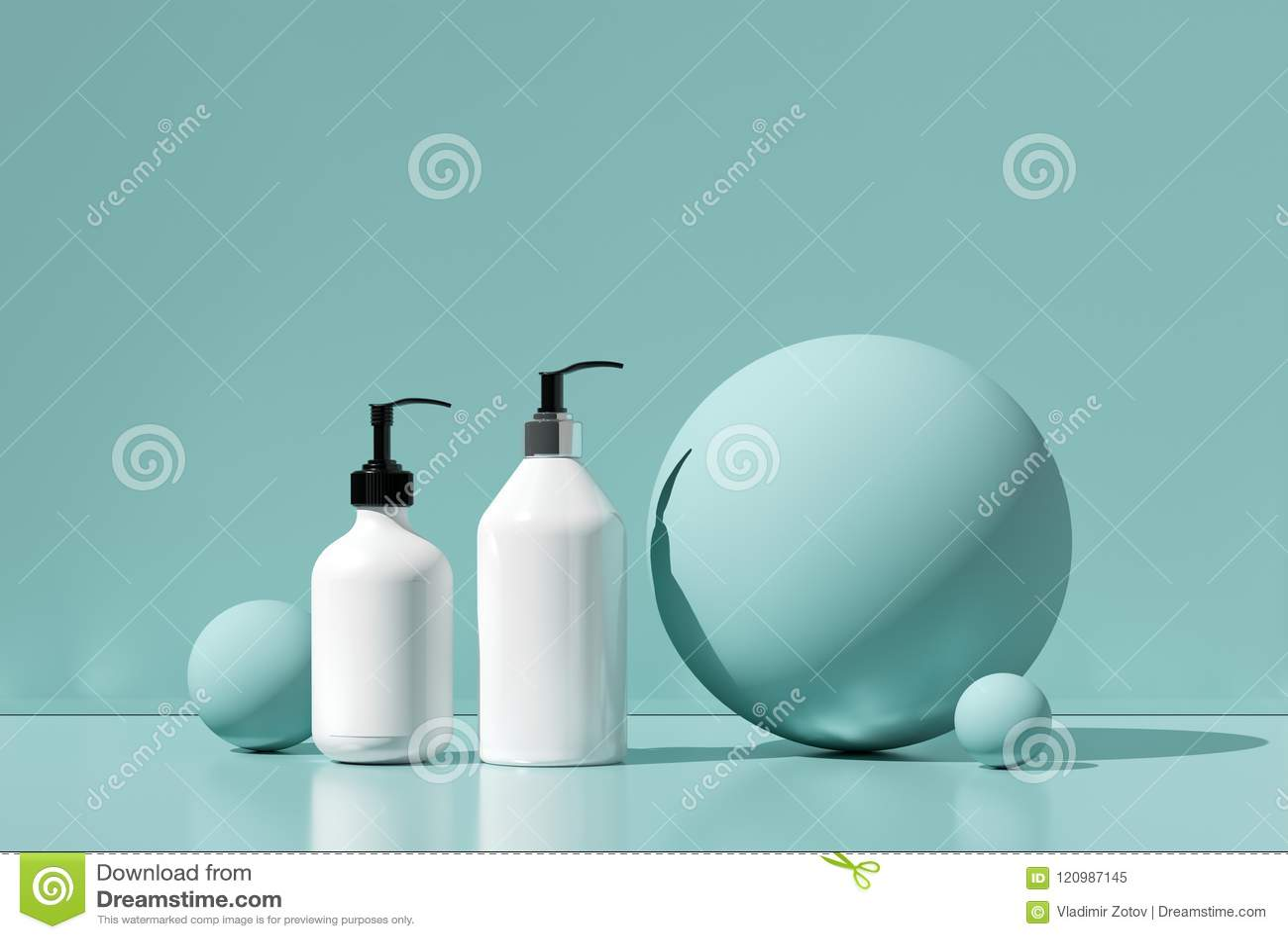 Projekt naturalna kosmetyczna śmietanka, serum, skincare butelki pusty pakować Życiorys organicznie produkt Piękno i zdroju pojęc