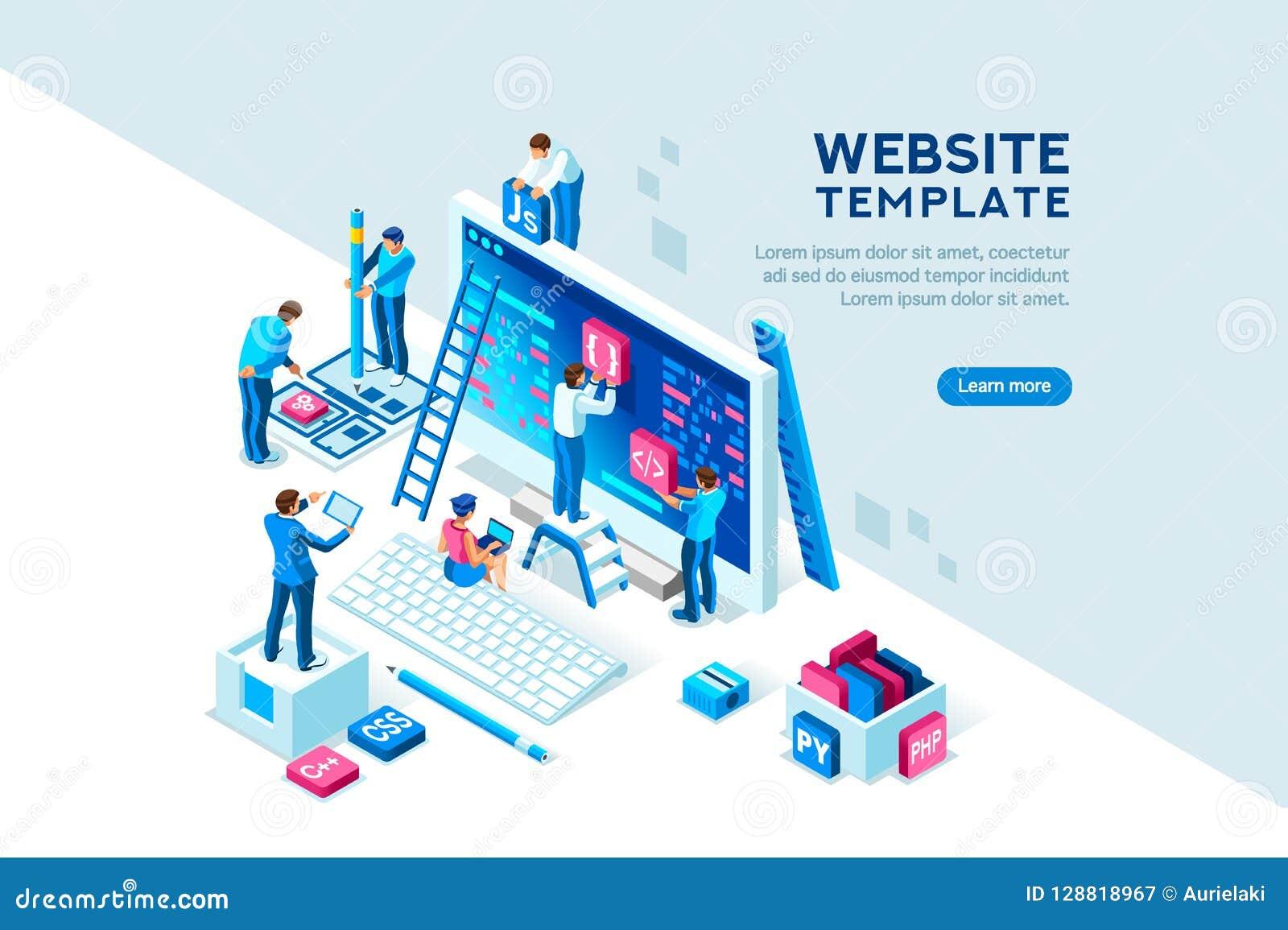 Projekt-Team Office Engineers Characters Web-Schablone