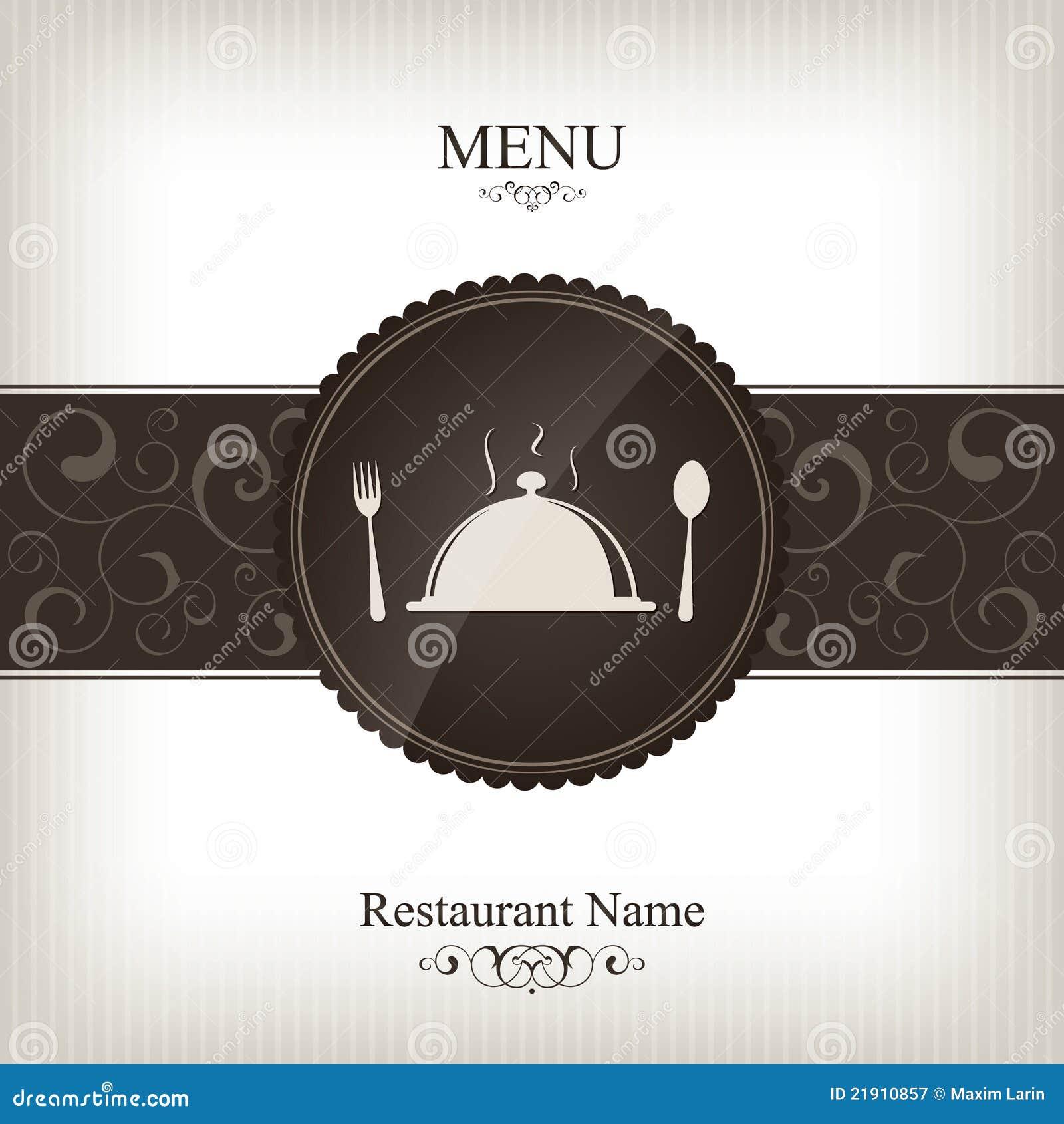 Projekta menu restauracja