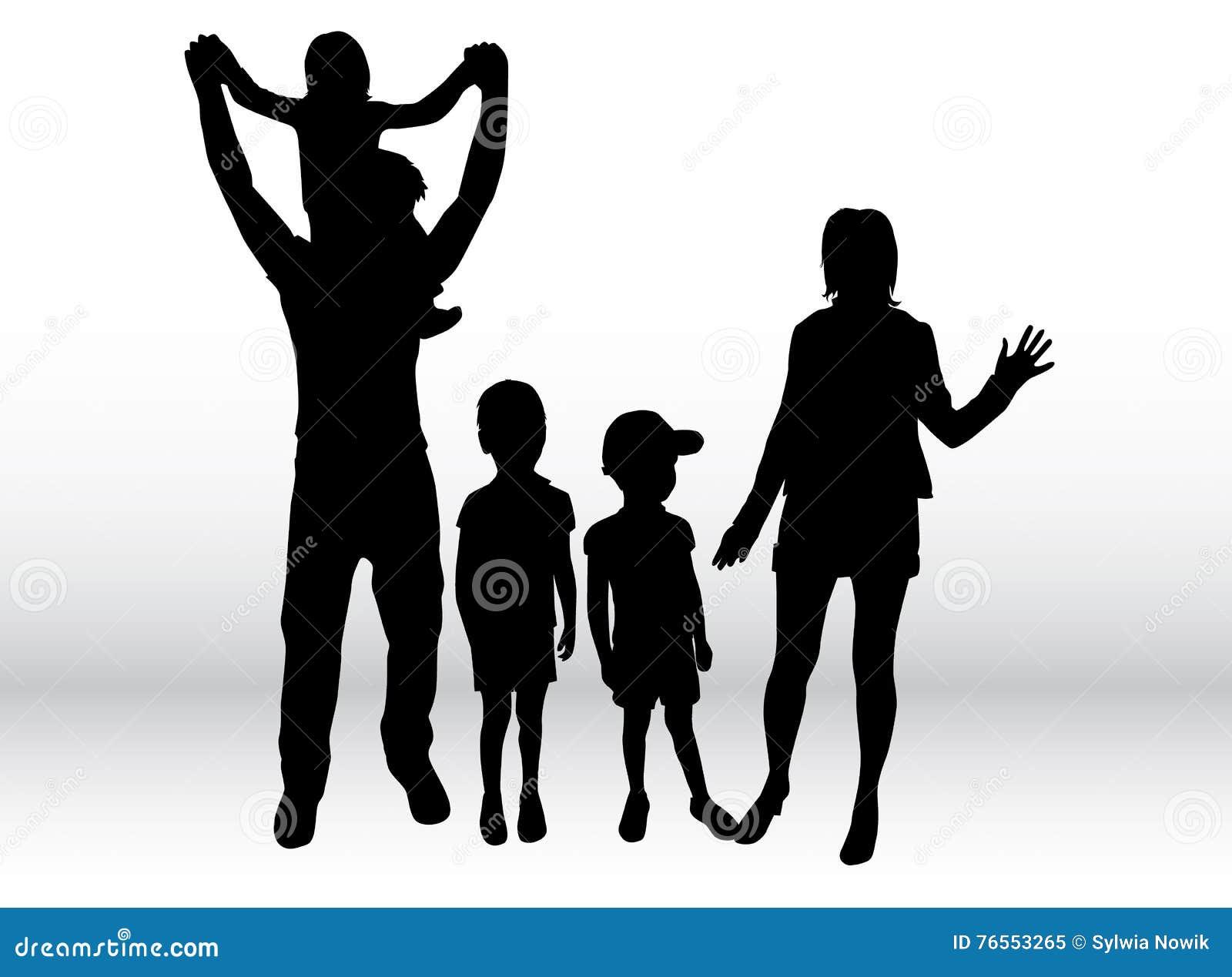 Projekta rodzinne wizerunku sylwetki twój