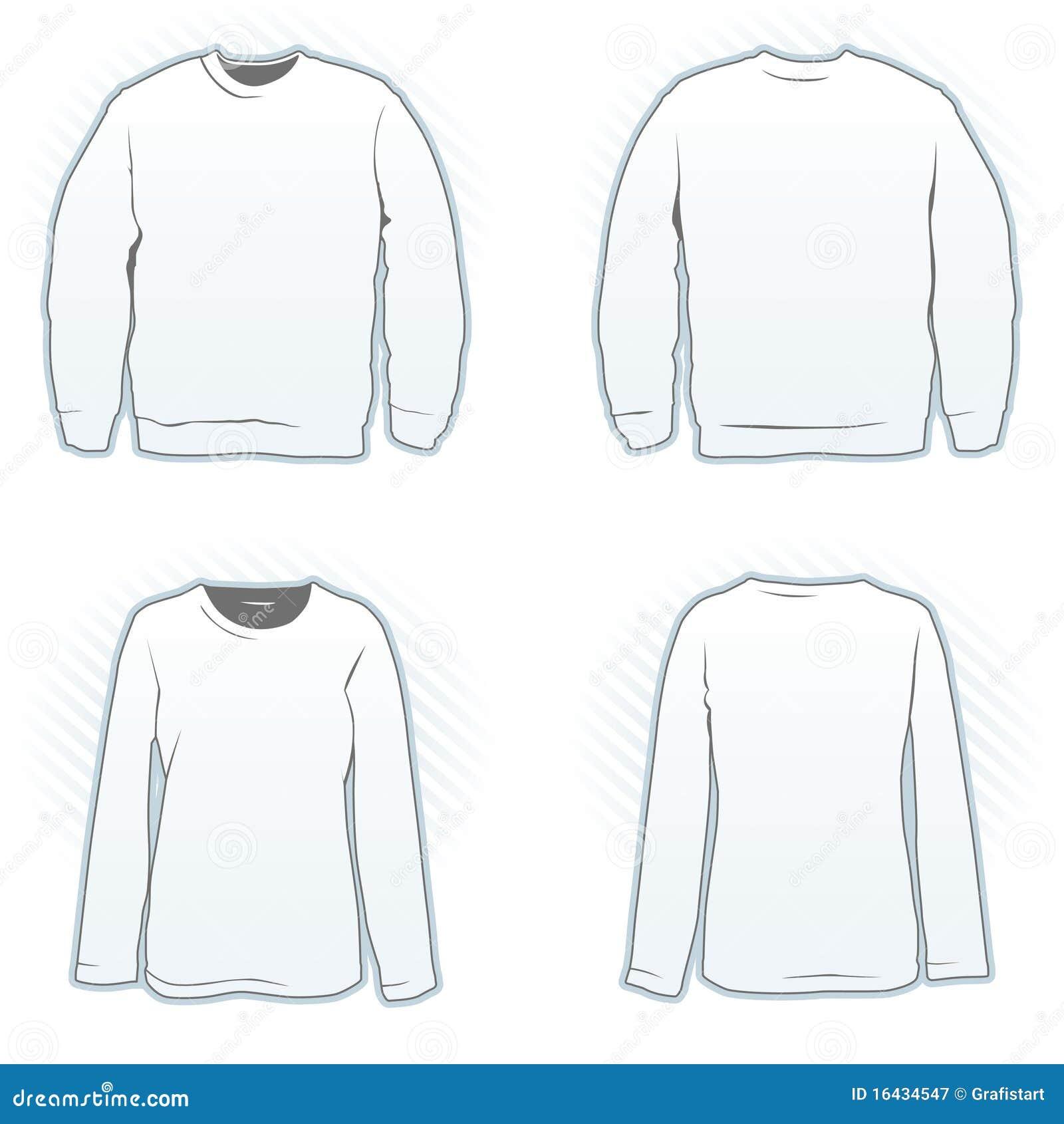 Projekta Ustalony Bluza Sportowa Szablon Ilustracja Wektor