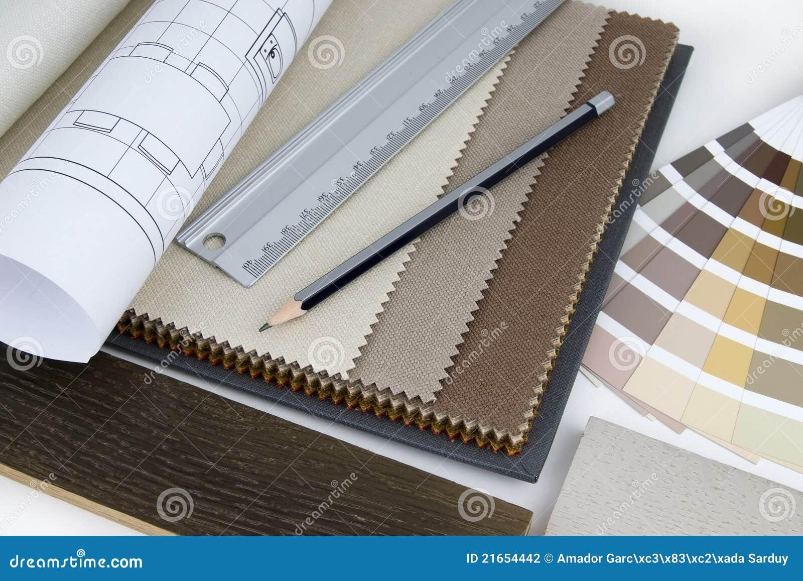 Projekta wnętrza stołu praca