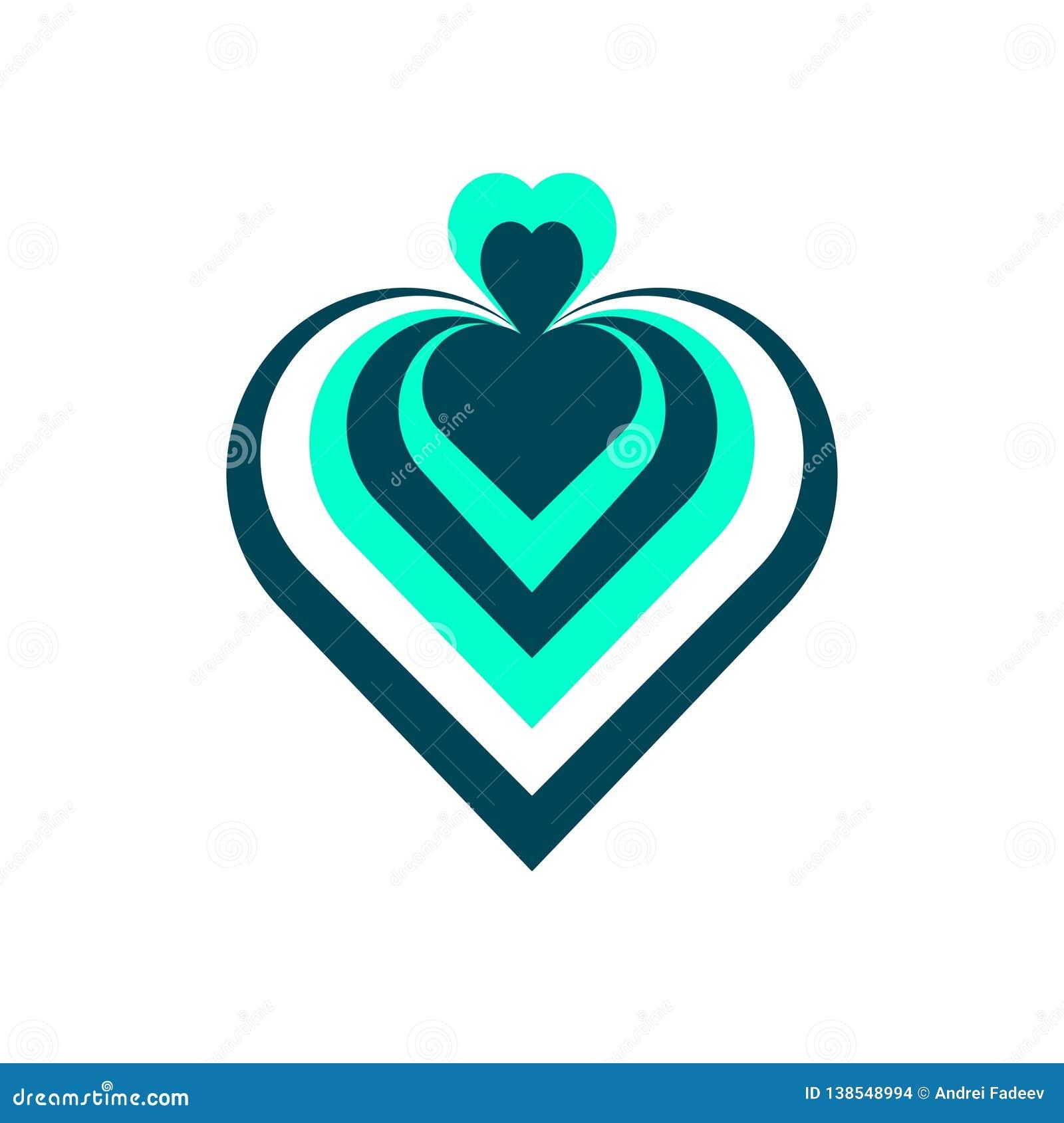 Projektanta serce Logo, ikona