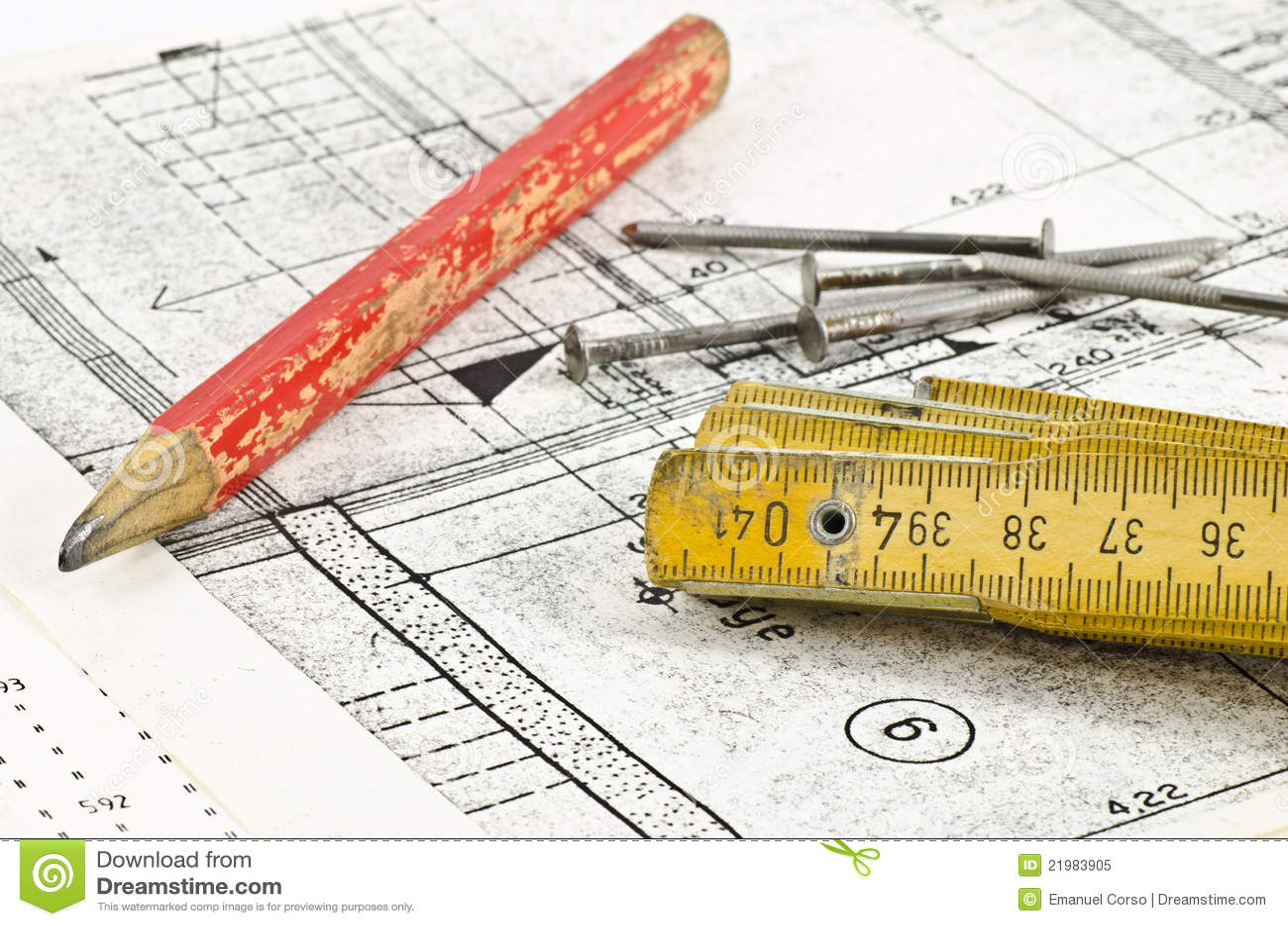 Projet de construction image stock image du architecture for Projet construction