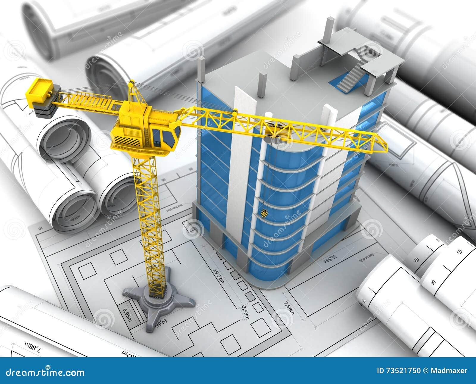 Projet de construction illustration stock image 73521750 for Projet de construction