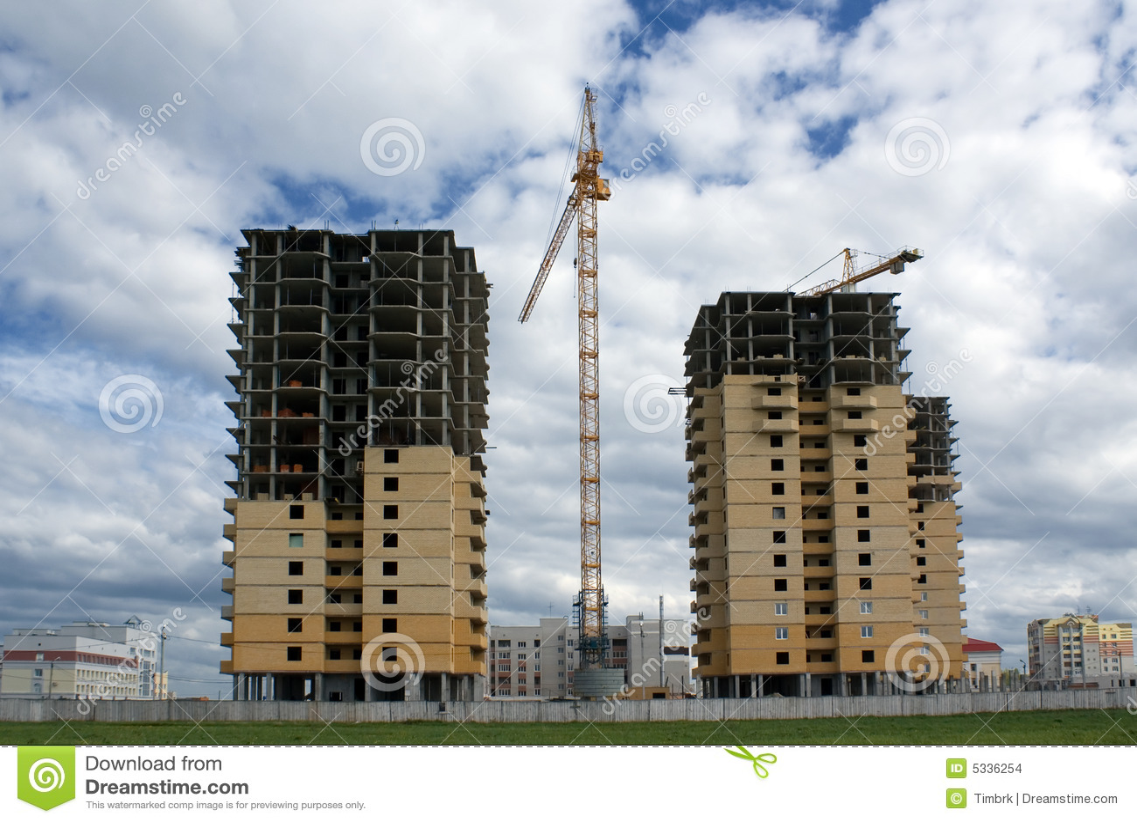 Projet de constructions neuf photo stock image du ville for Prix construction neuf