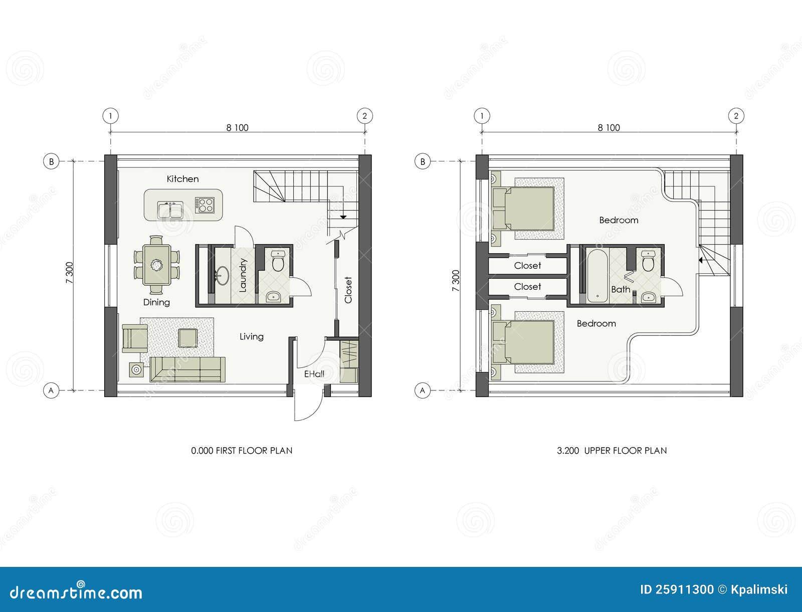Projet de petite maison photo stock image 25911300 for Projet maison 3d
