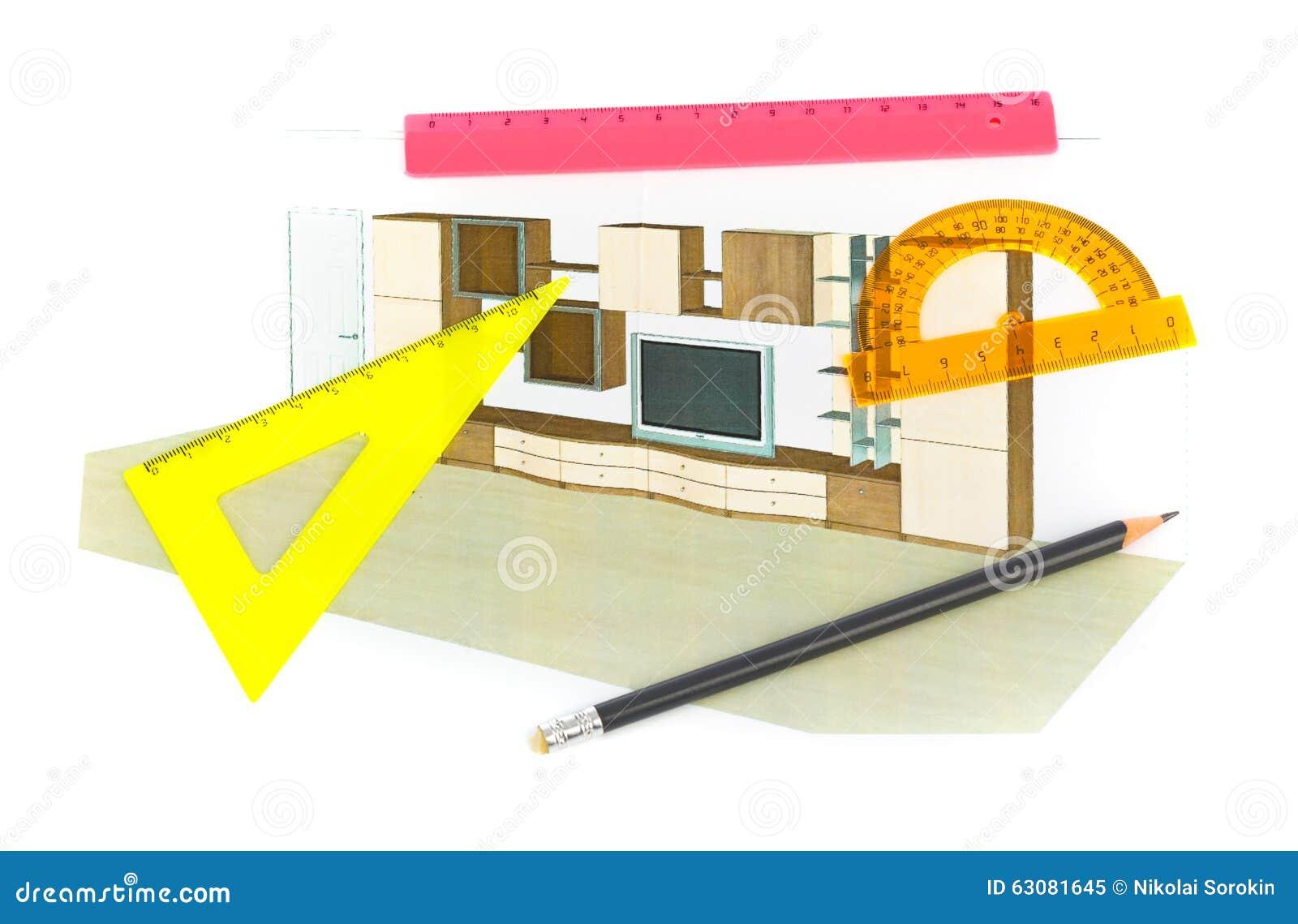 Download Projet de salon image stock. Image du vivre, créativité - 63081645