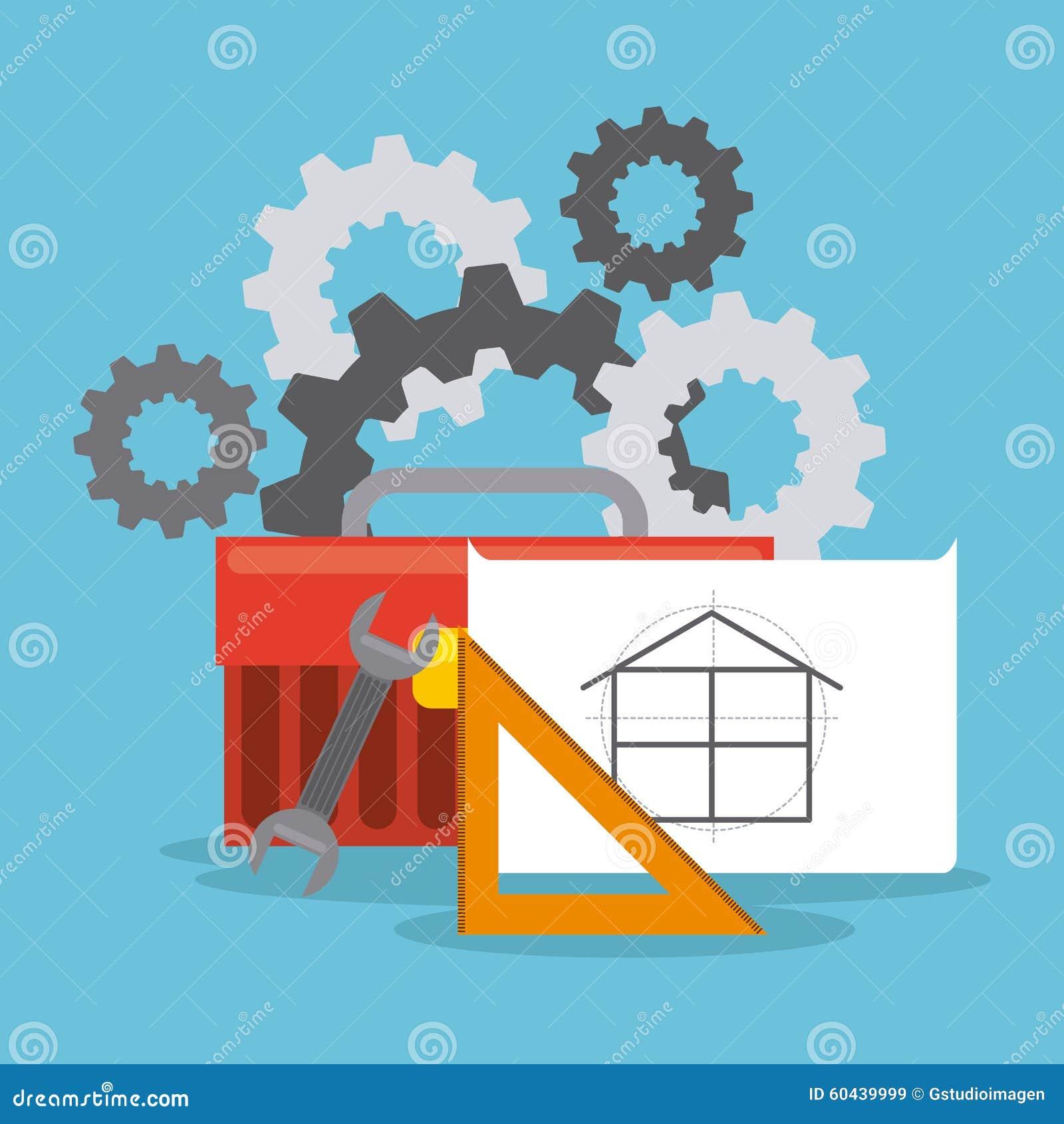Projet en construction illustration de vecteur for Projet construction