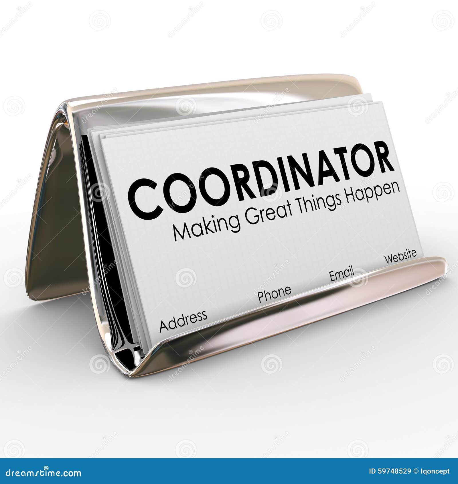 Projet Job Manager Director Su De Support Carte Visite Professionnelle Coordonnateur
