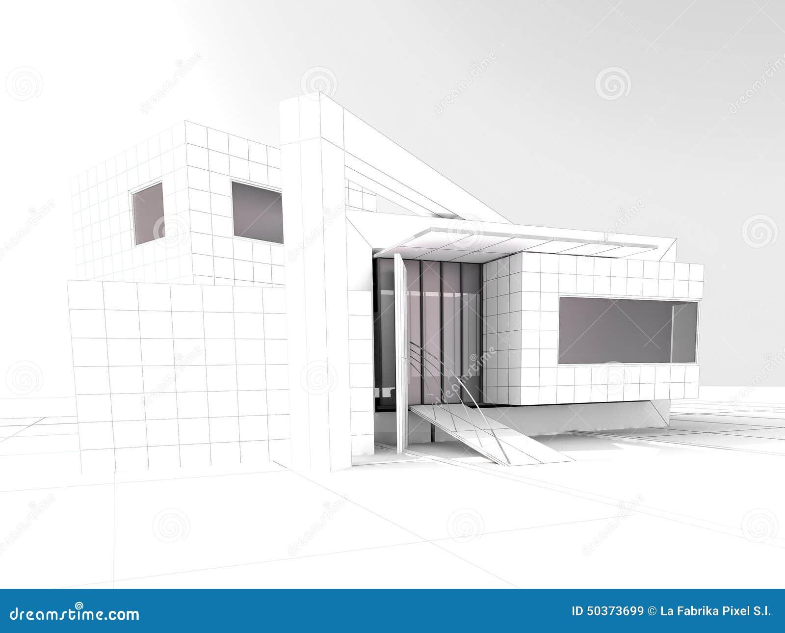 Projet moderne d 39 architecture de grenier illustration for Projet d architecture