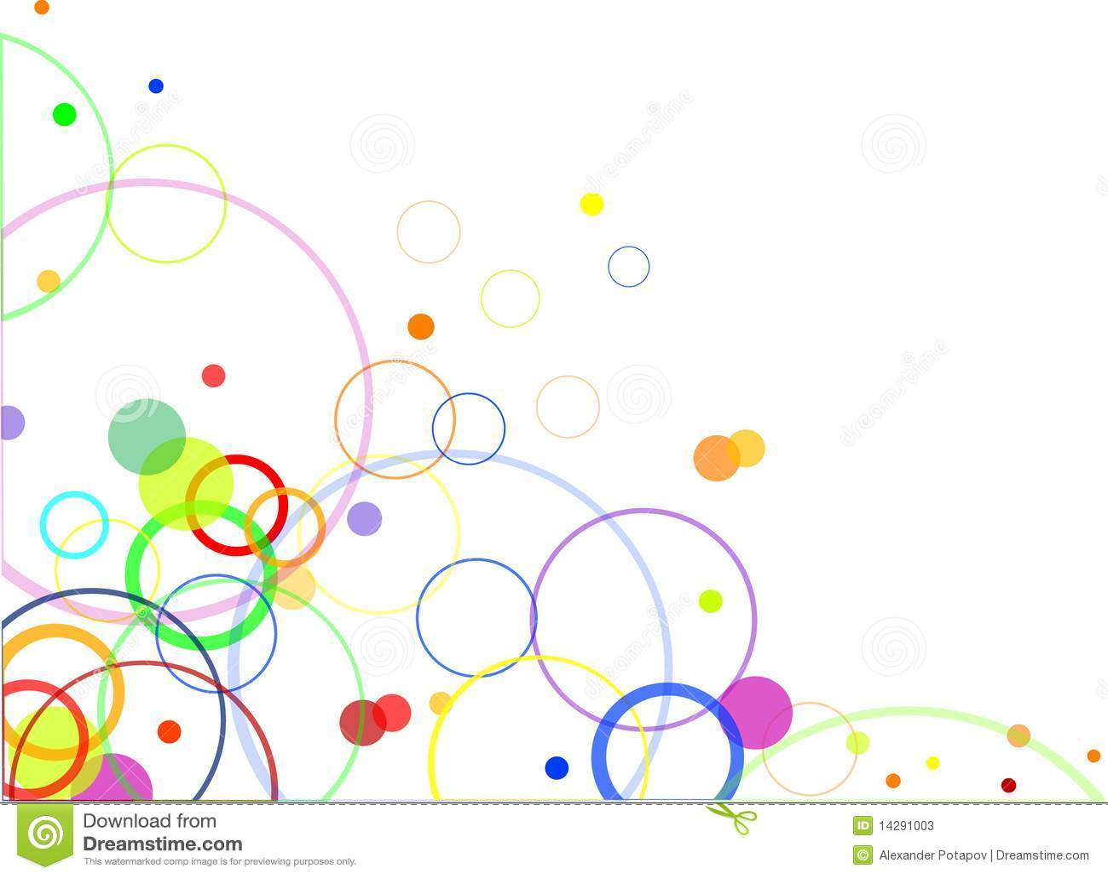 Projeto abstrato com círculos de cor