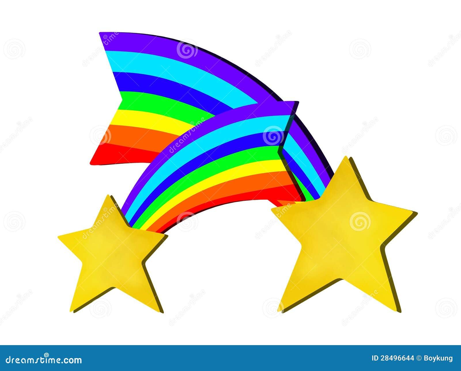 Projeto abstrato das estrelas do arco-íris