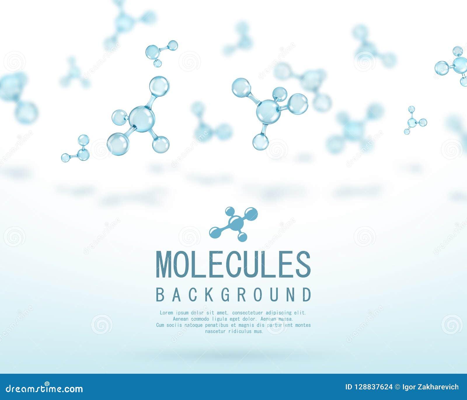 Projeto abstrato das moléculas átomos Fundo abstrato para a bandeira ou o inseto