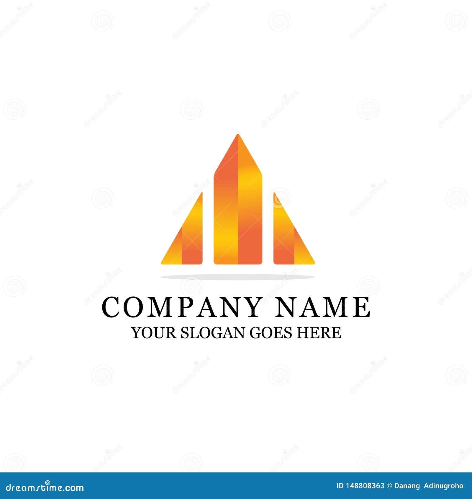Projeto abstrato de construção colorido do logotipo