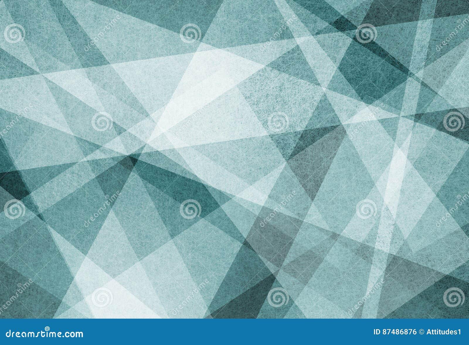 Projeto abstrato do fundo das linhas e dos triângulos angulares brancos das listras no material textured azul