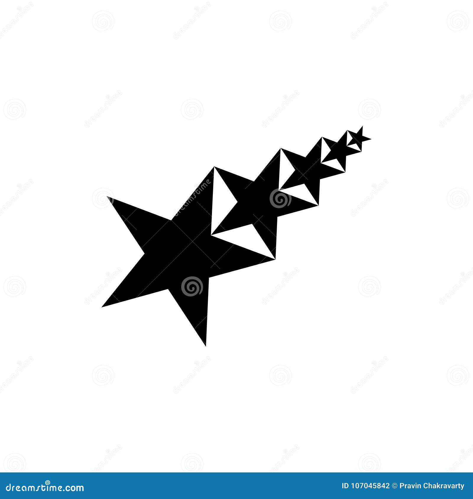 Projeto abstrato do logotipo do vetor da estrela cinco para as indústrias, os povos etc. Ilustração do vetor