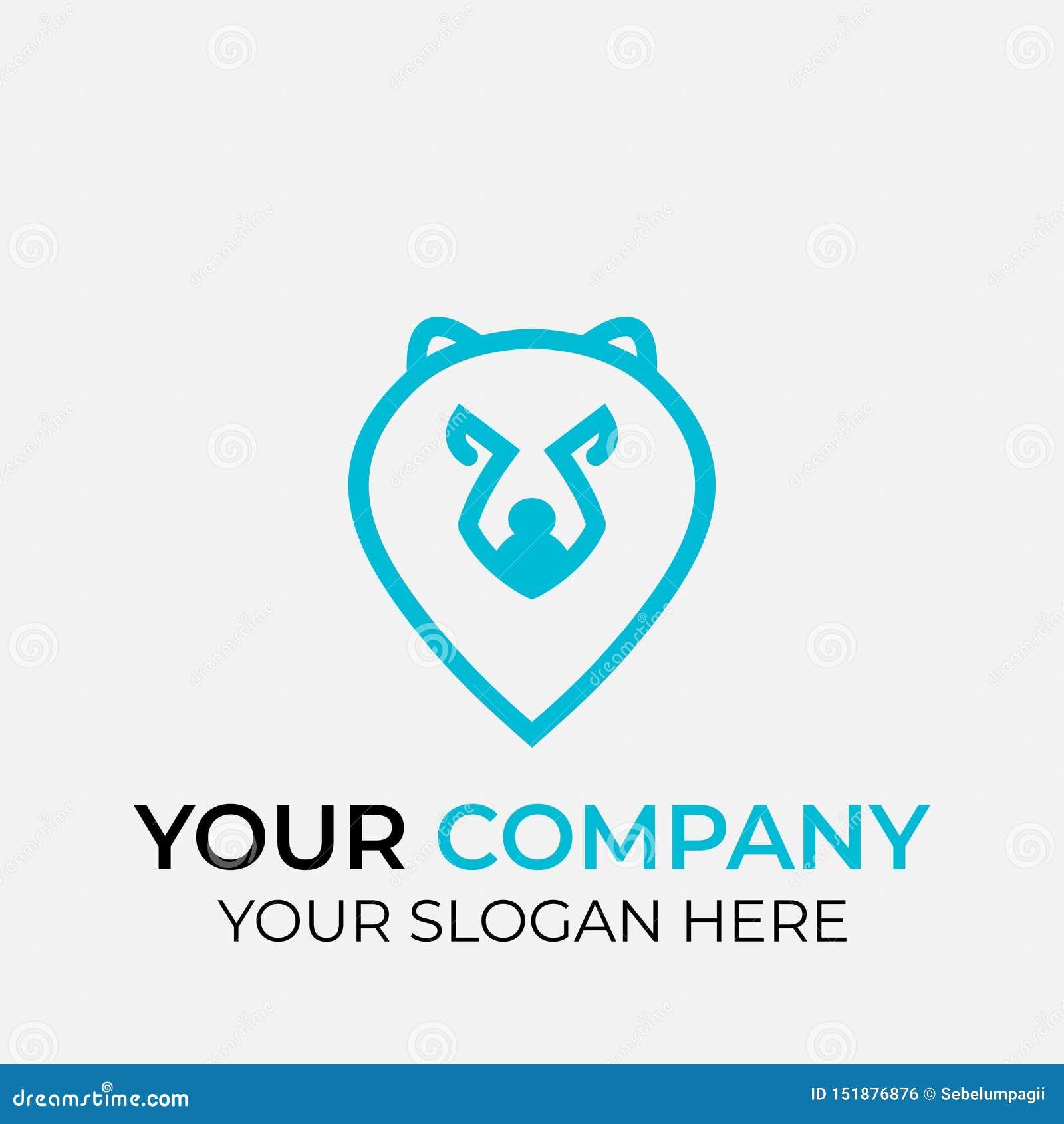 Projeto animal do logotipo