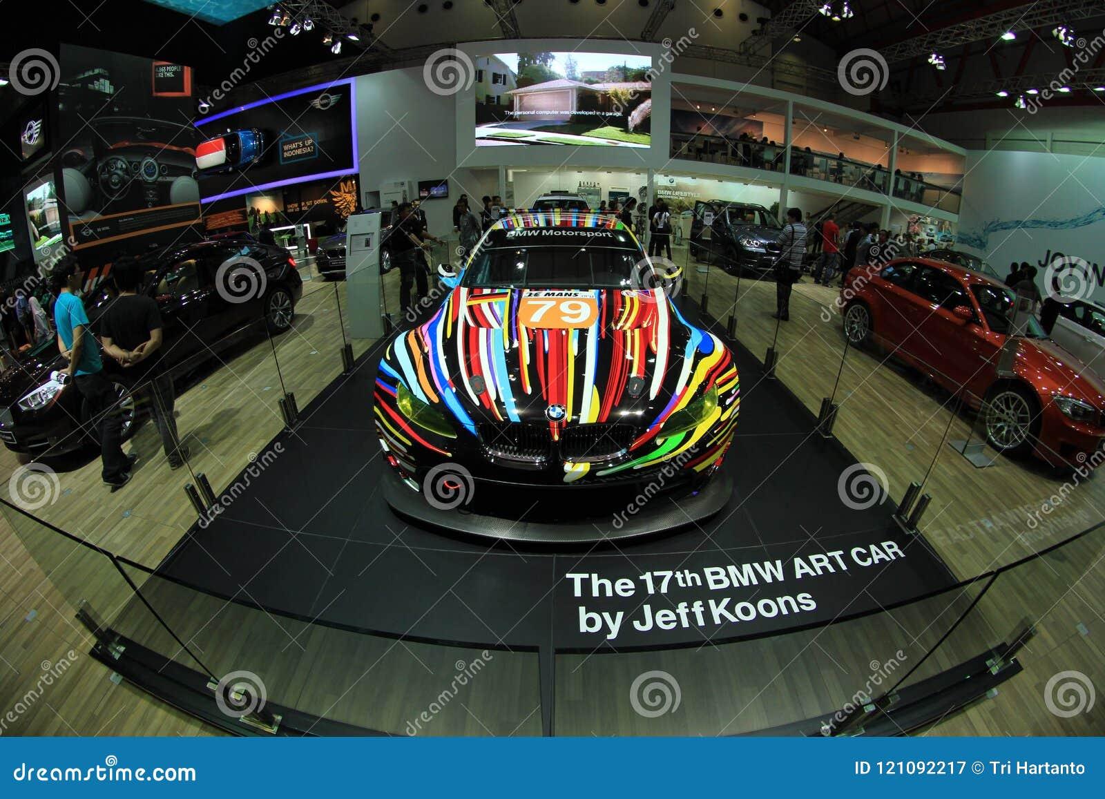 Projeto artístico da cor de BMW M3 GT2 do carro por Jeff Koons