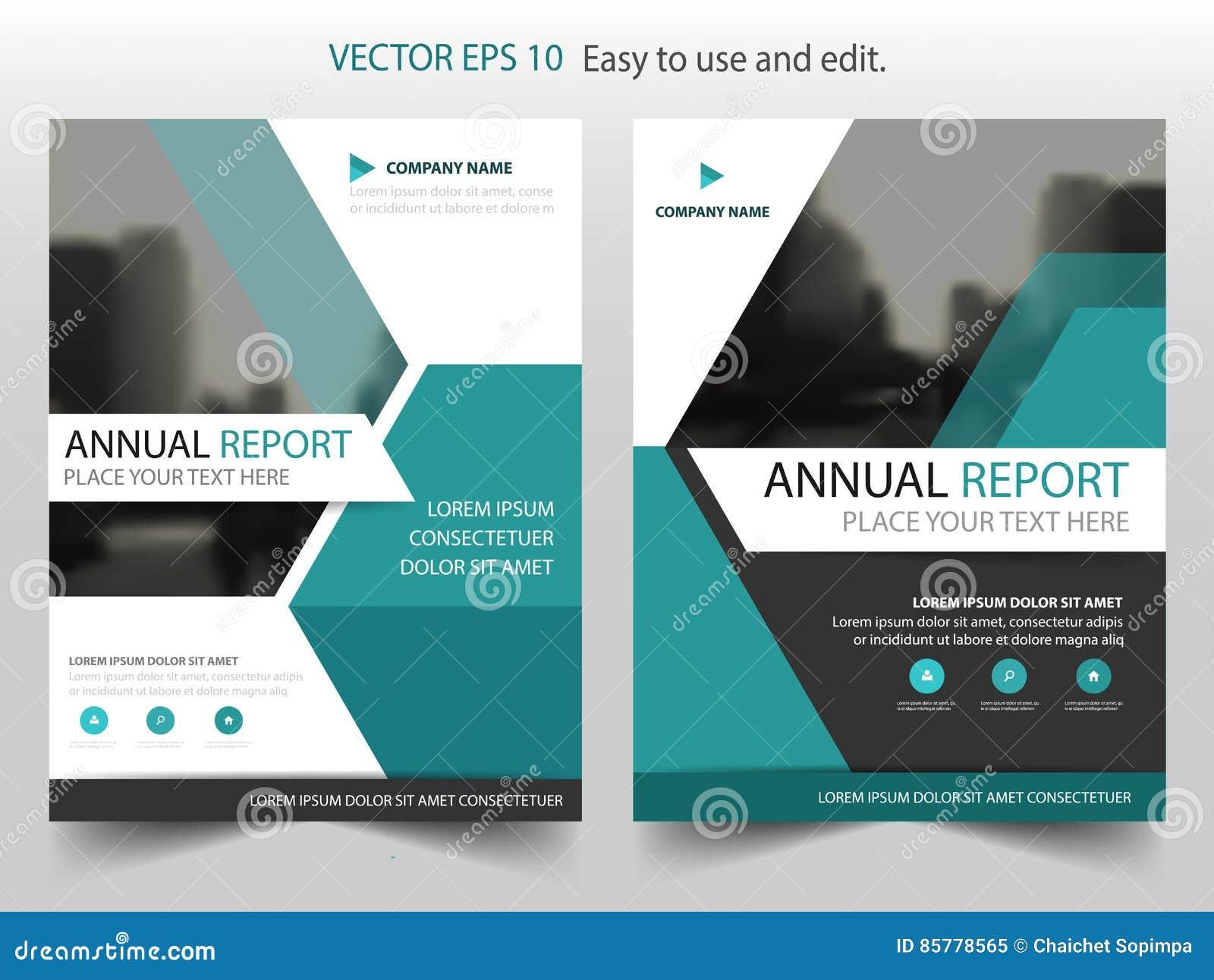 Projeto azul do molde do inseto do folheto do informe anual do folheto do vetor do hexágono, projeto da disposição da capa do liv