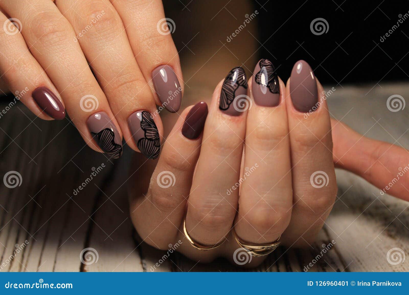 Projeto bonito do tratamento de mãos