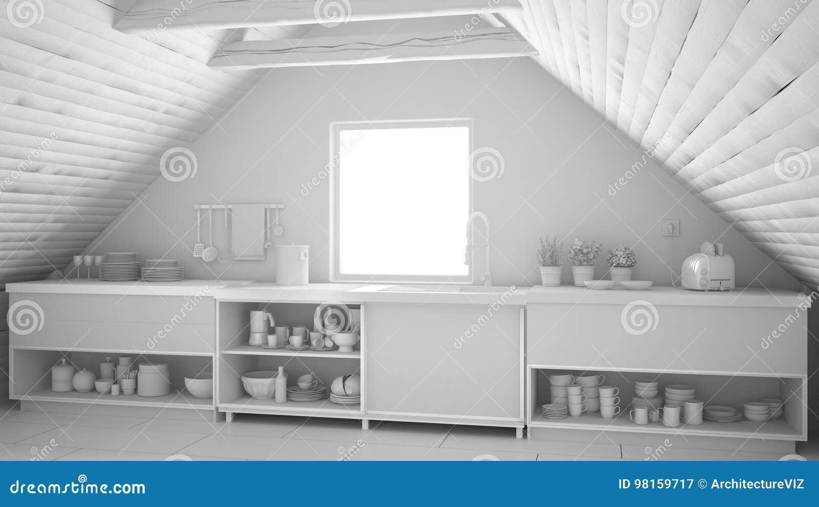 Projeto Branco Total Da Cozinha Industrial Escandinava Mez Do S T O