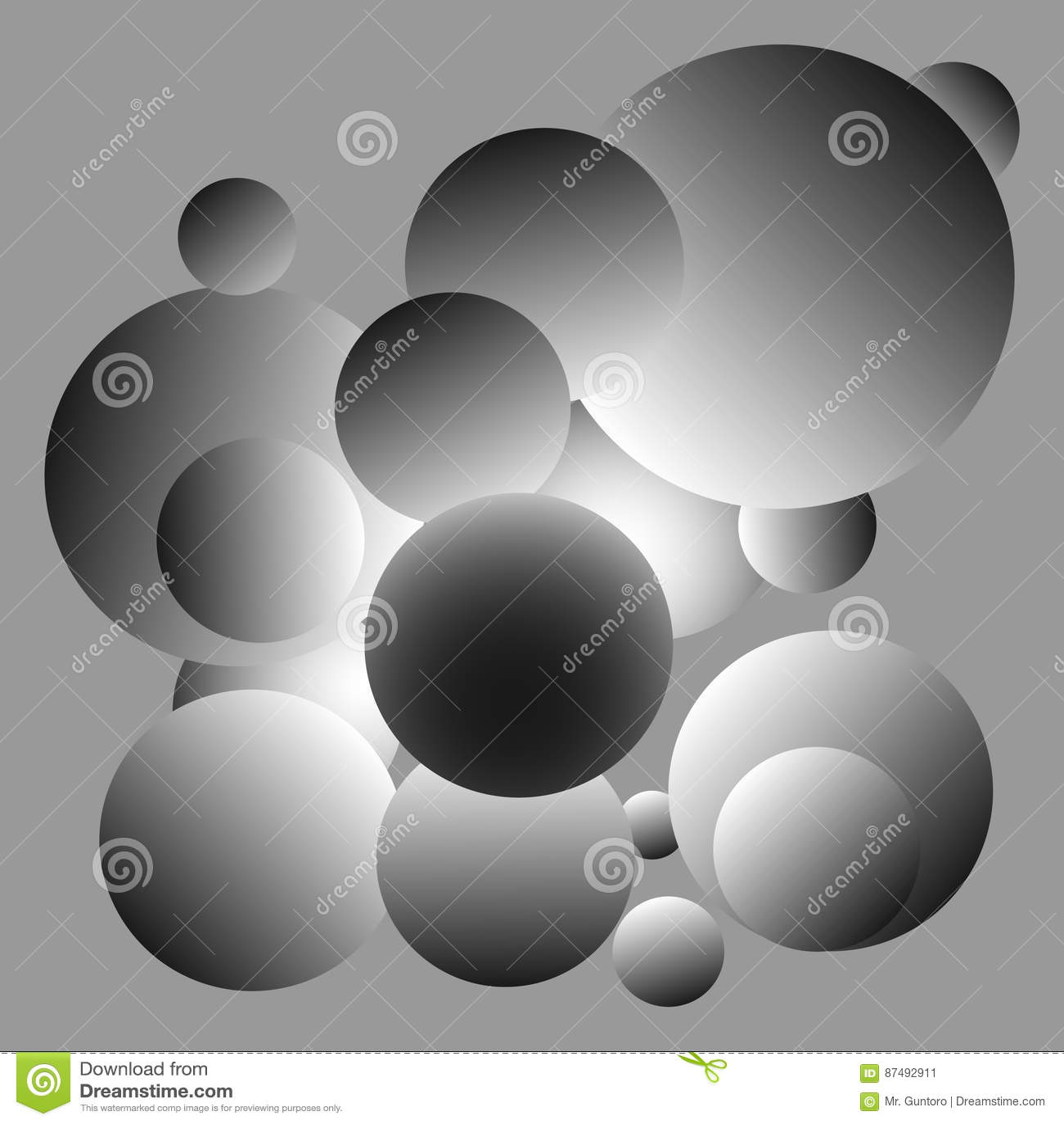 Projeto cinzento brilhante do fundo das bolas