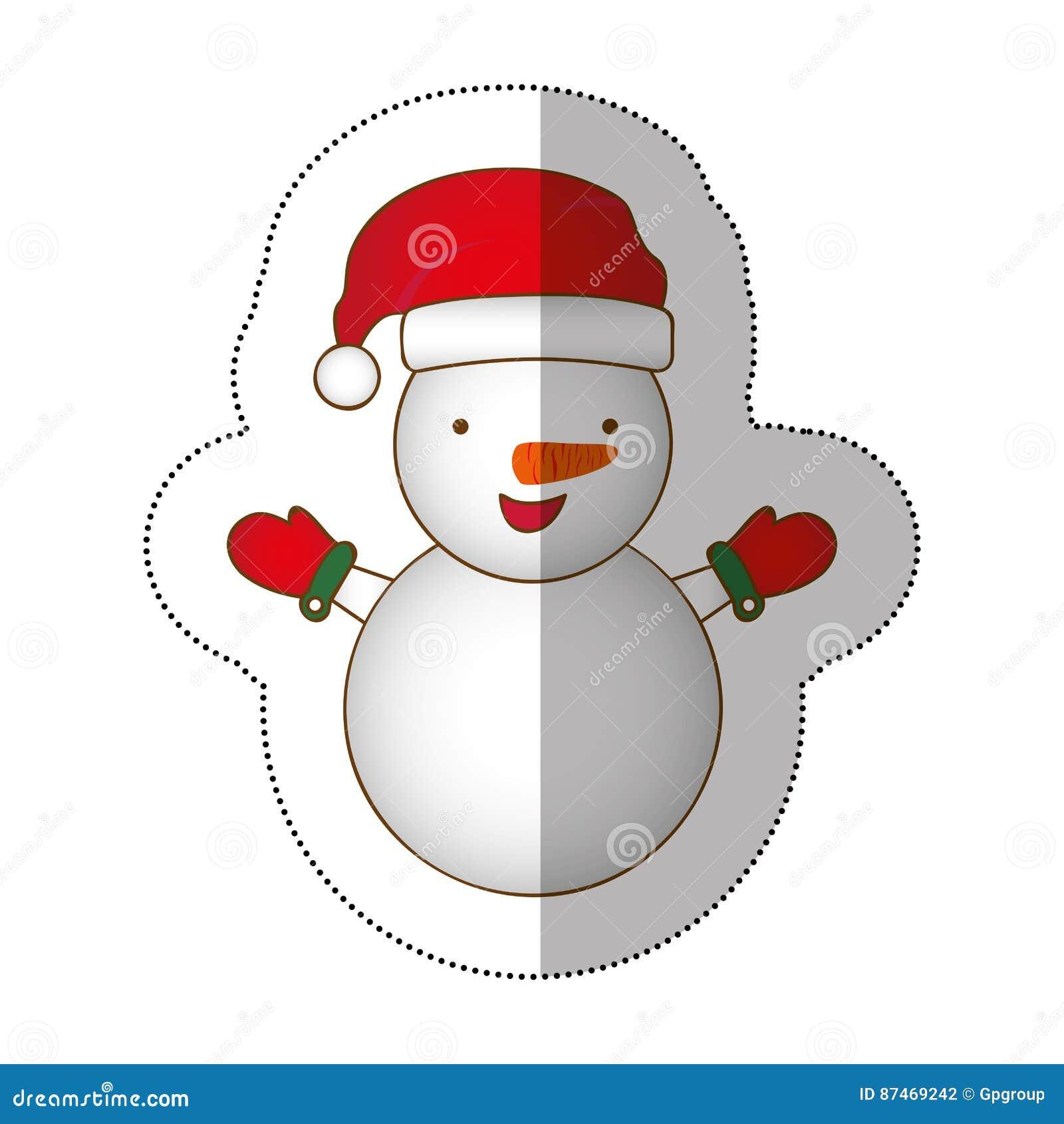Projeto Colorido Do Natal Do Boneco De Neve Dos Desenhos Animados