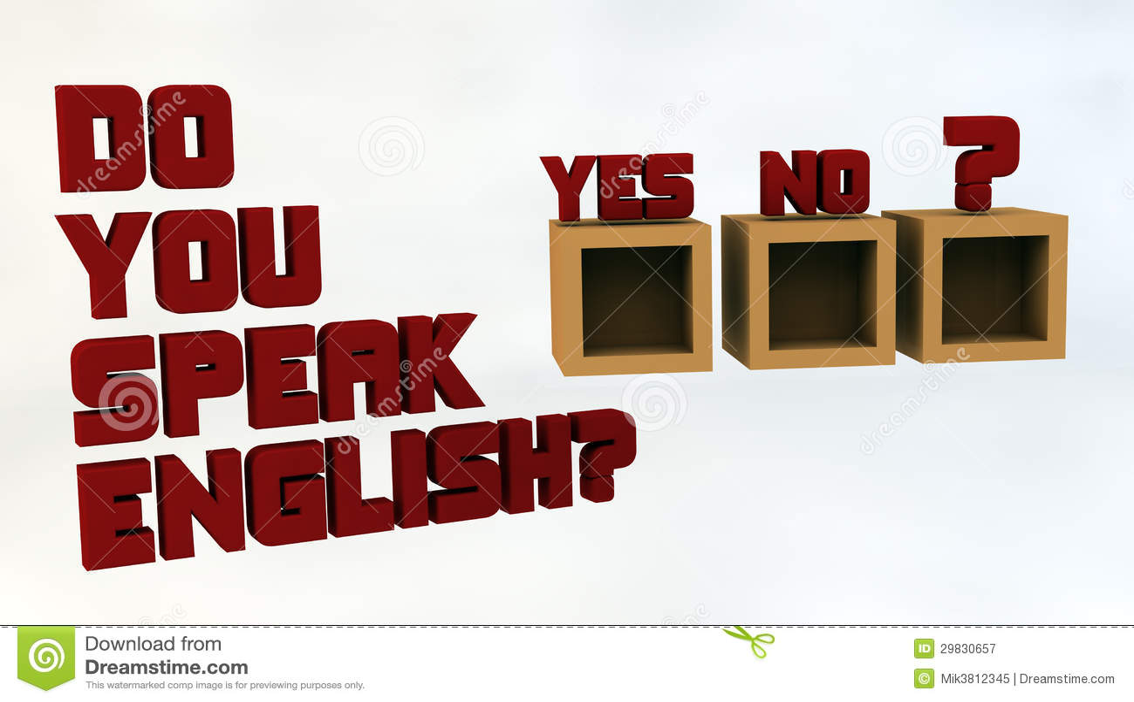 Você fala o inglês?