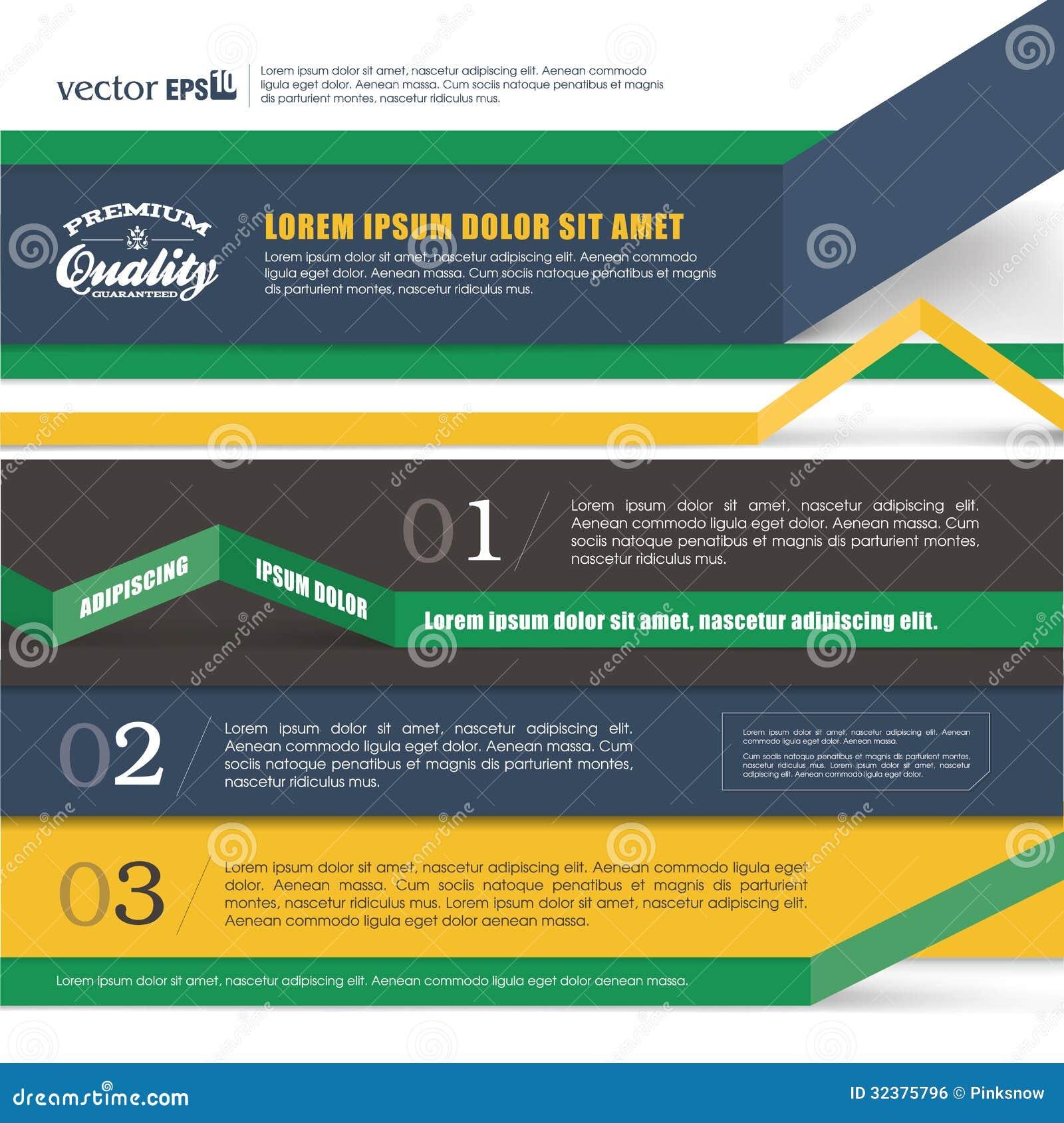 Projeto da bandeira de Infographics