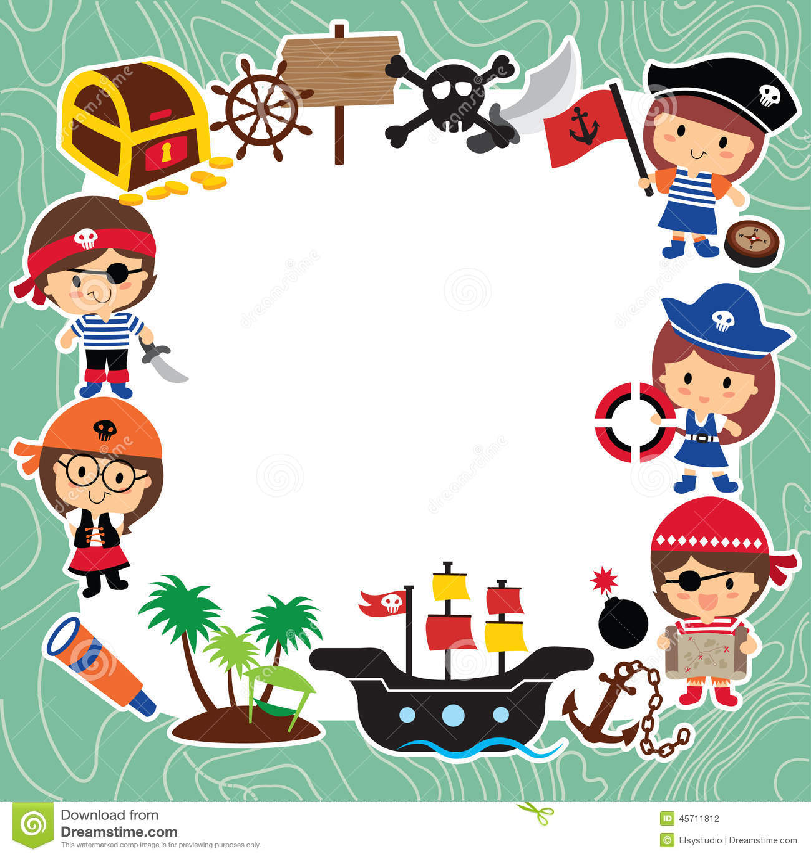 Projeto Da Disposição Das Crianças Dos Piratas Ilustração do  #B31826 1300 1390