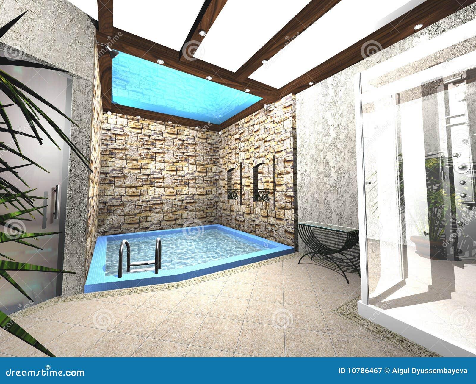 Projeto da piscina ilustra o stock ilustra o de for Projeto x piscina