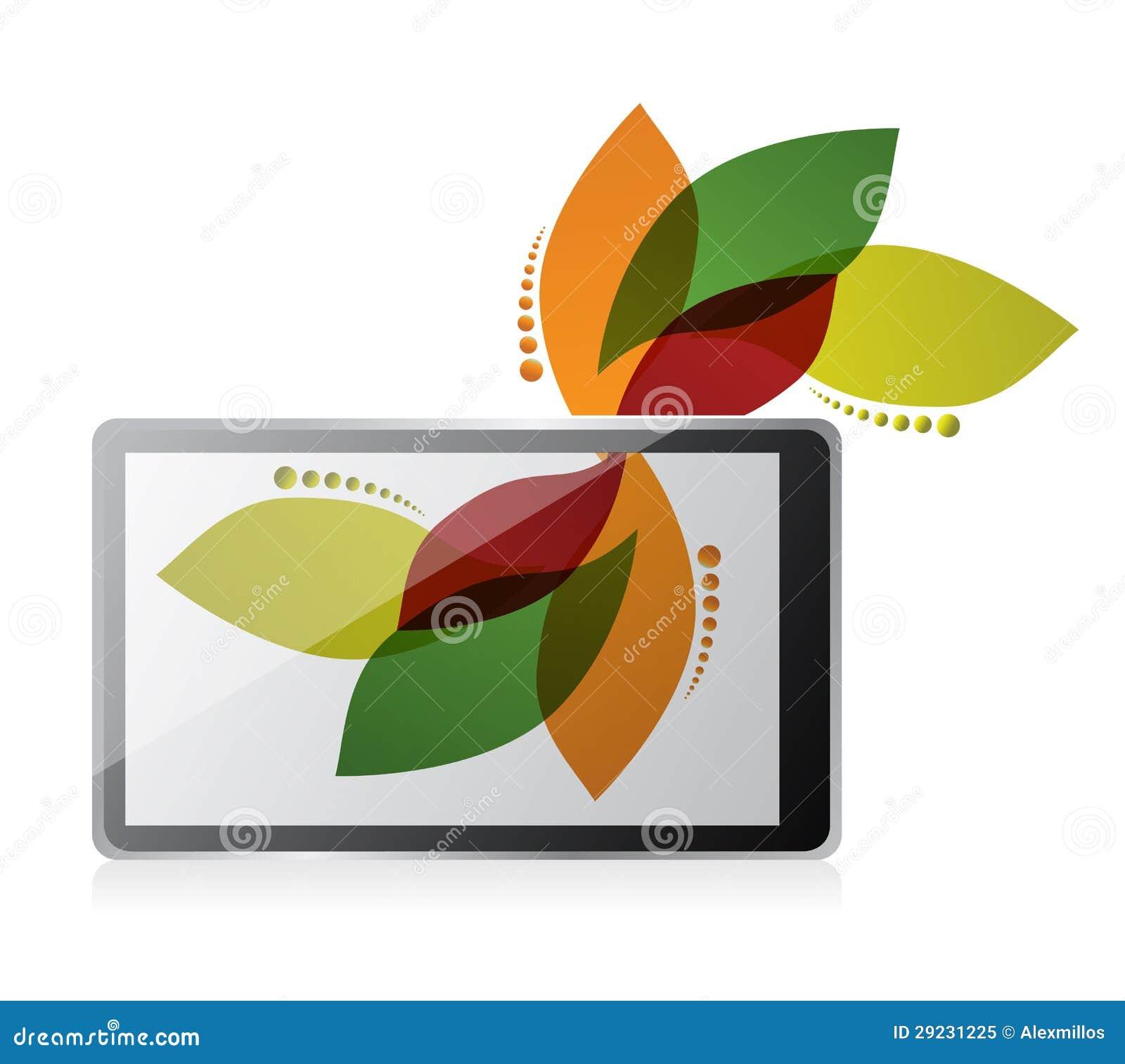 Download Projeto Da Tabuleta Do Design Floral Ilustração Stock - Ilustração de crescimento, blank: 29231225