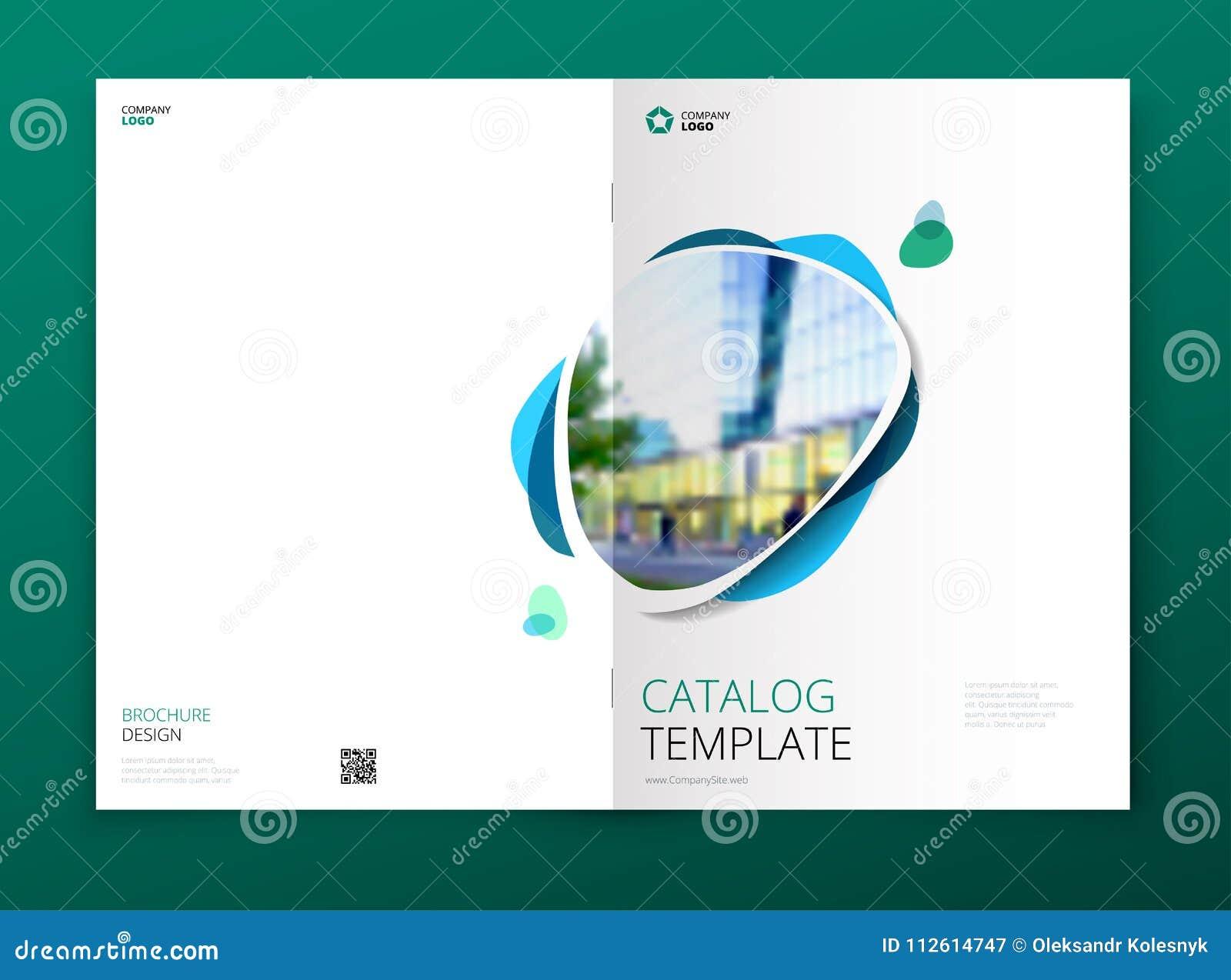 Projeto da tampa do catálogo Folheto da empresa, informe anual, catálogo, conceito da disposição do molde do compartimento