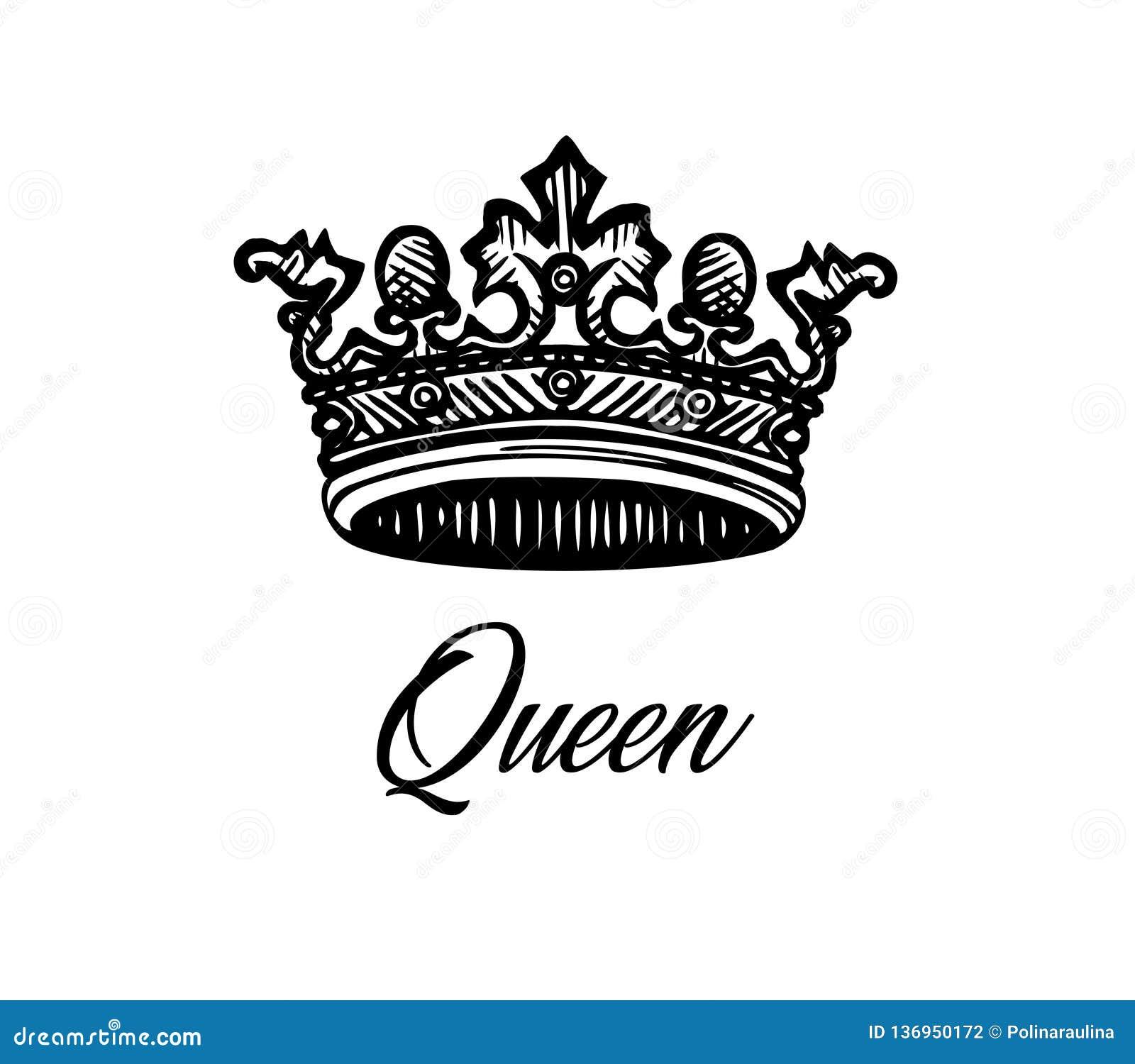 Projeto da tatuagem da coroa da rainha