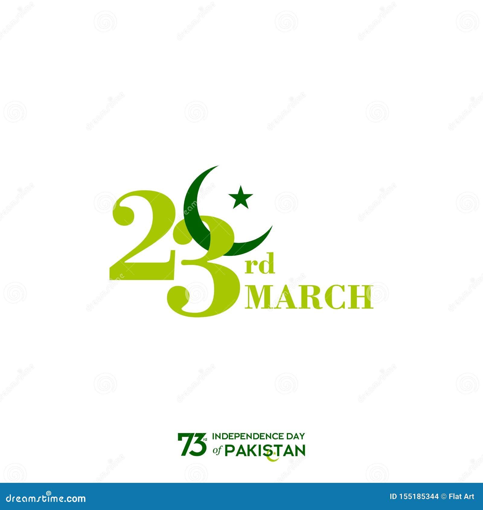 Projeto da tipografia do Dia da Independência de Paquistão Tipografia criativa do 73rd Dia da Independência feliz de projeto do m