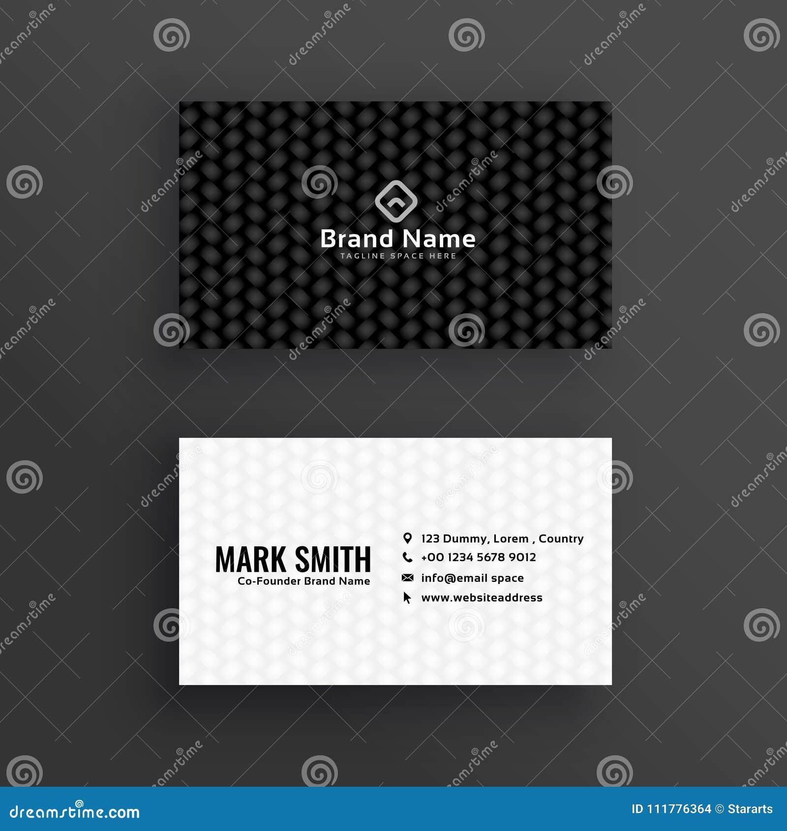 Projeto de cartão escuro preto e branco simples