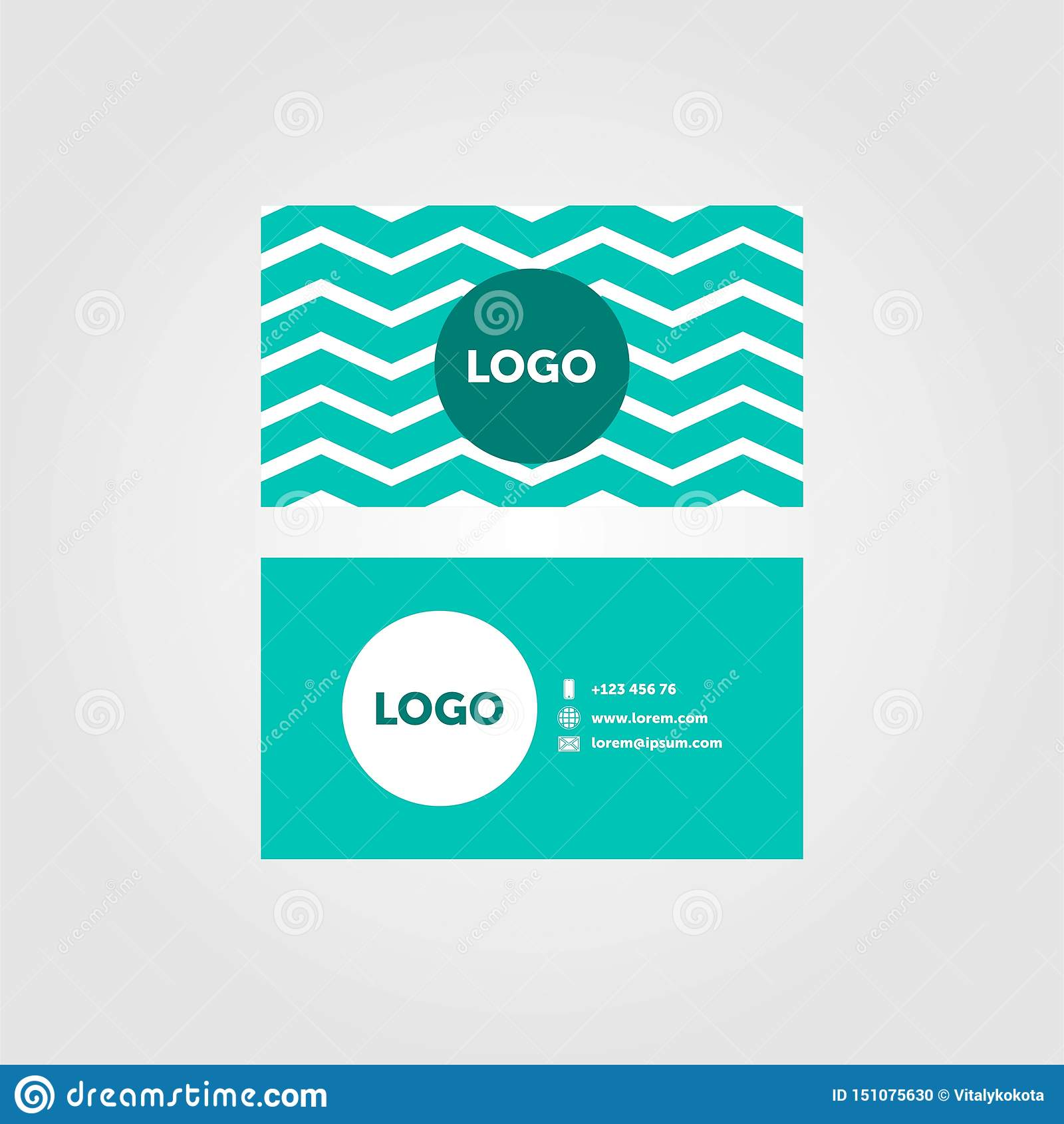 Projeto de cartão mínimo verde da empresa com lugar para o logotipo
